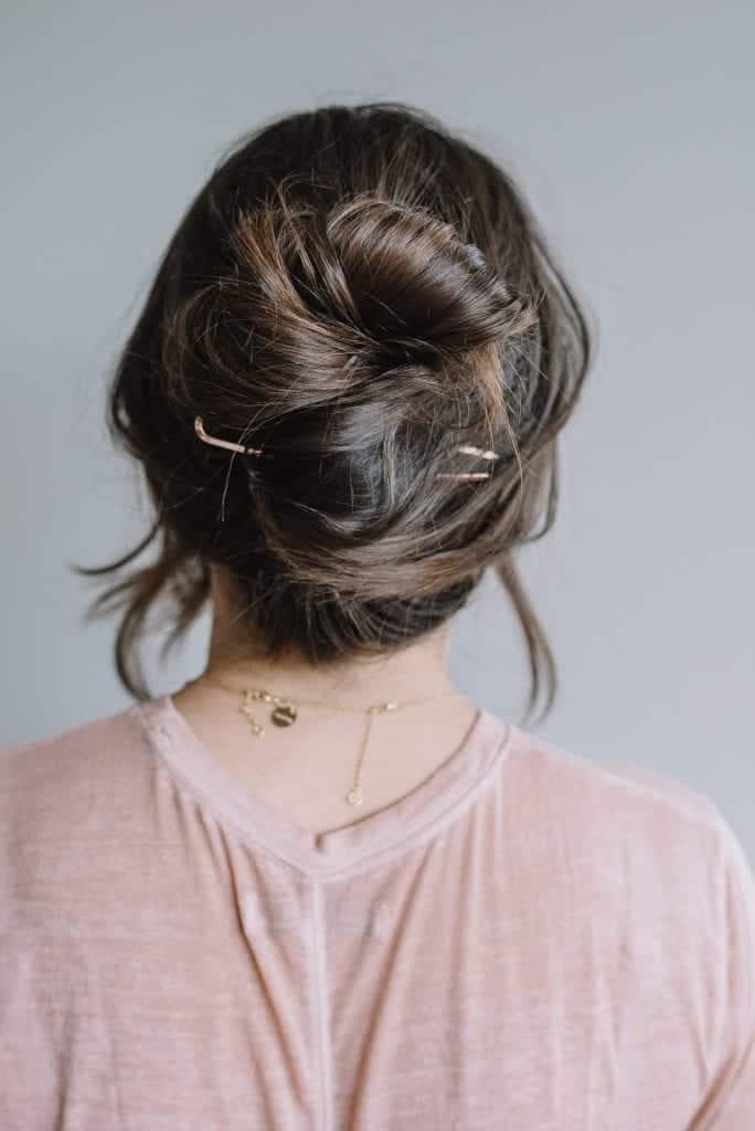 a hair pin classic twist bun