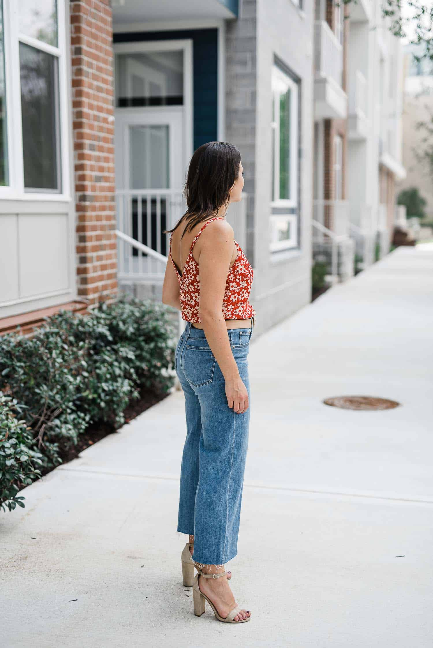 90s floral tank, how to style culottes, floral tank, madewell outfit - My Style Vita