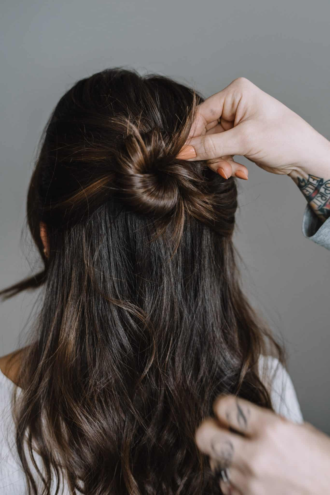 How To Do A Half Up Bun With A Pin - Step Three