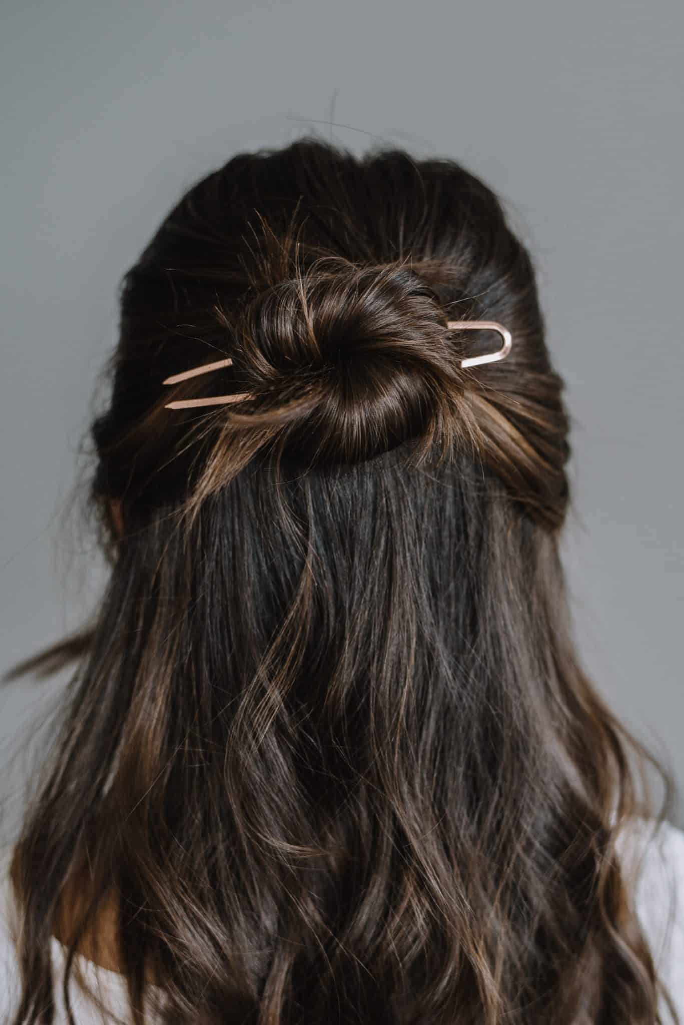 Half Up Bun With A Hair Pin by My Style Vita