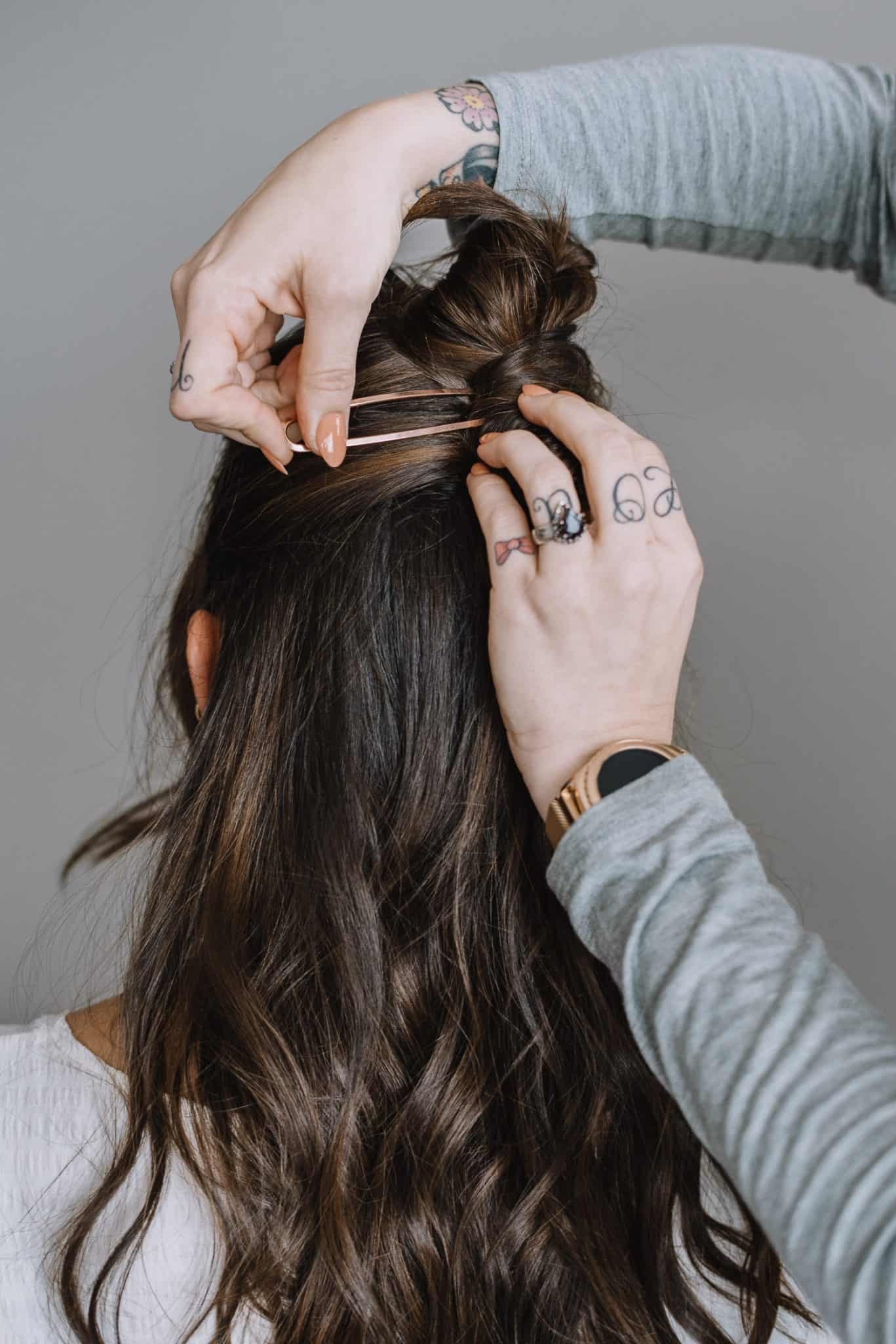 How To Do A Half Twist With A Rose Gold Pin