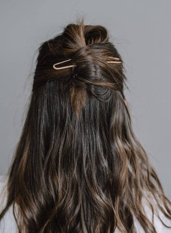 A Twisted Half Up With A Hair Pin