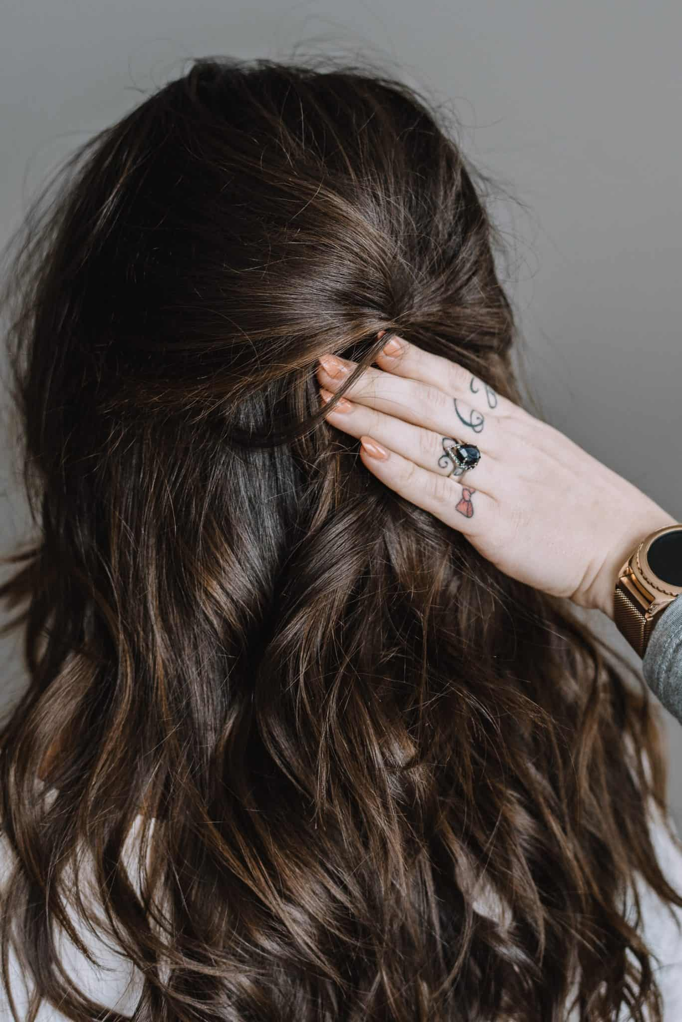 How To Do The Half Up With A Hair Pin