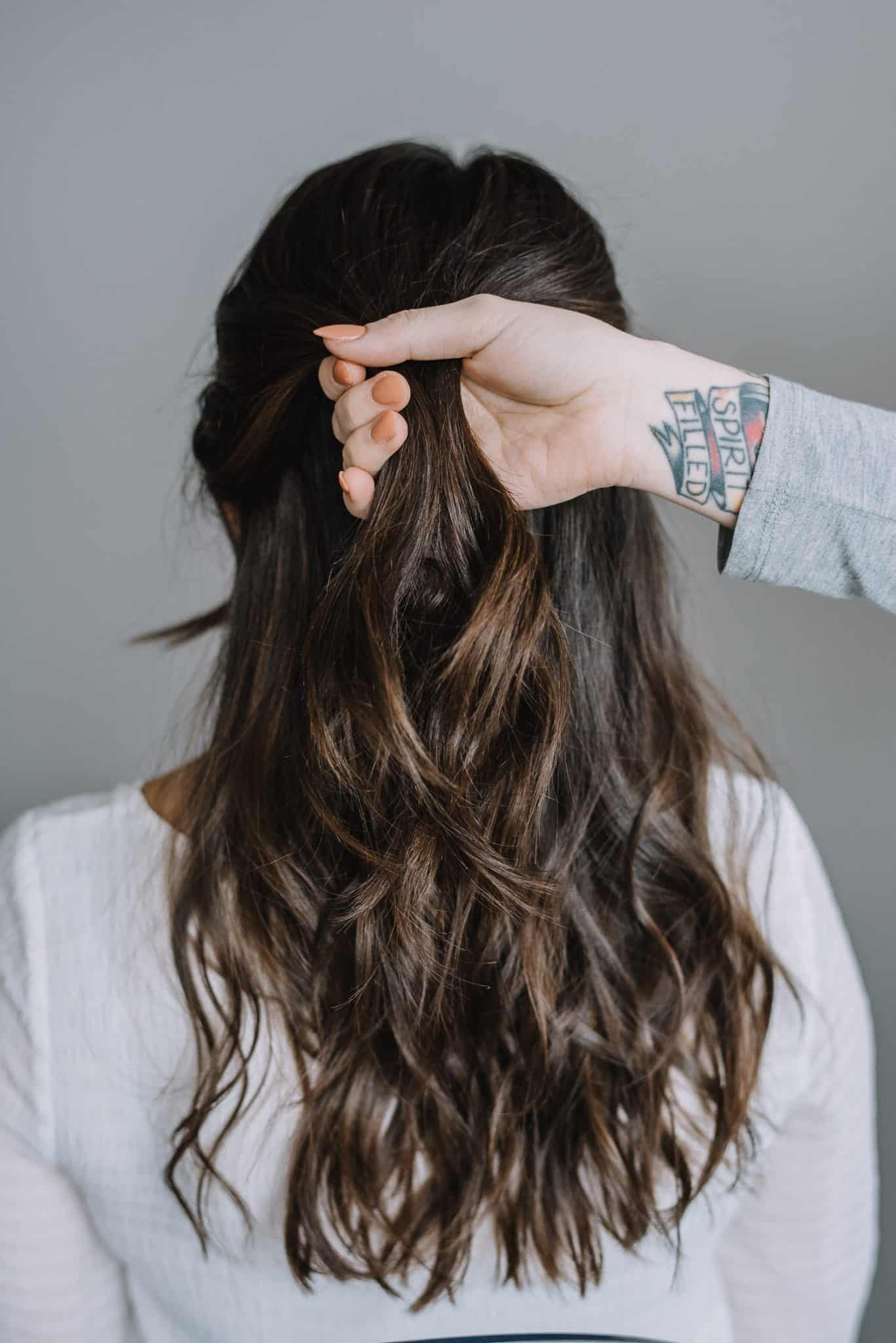 How To Do A Half Twist With A Rose Gold Pin - My Style Vita