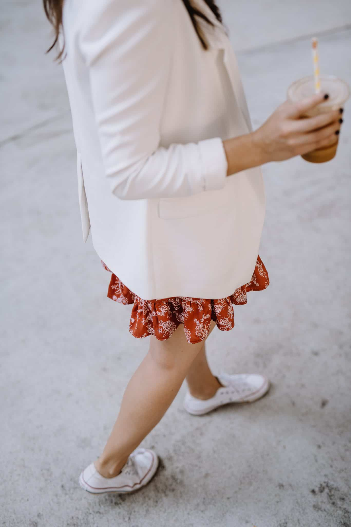 the best dresses for converse, floral wrap dress white blazer converse - My Style Vita