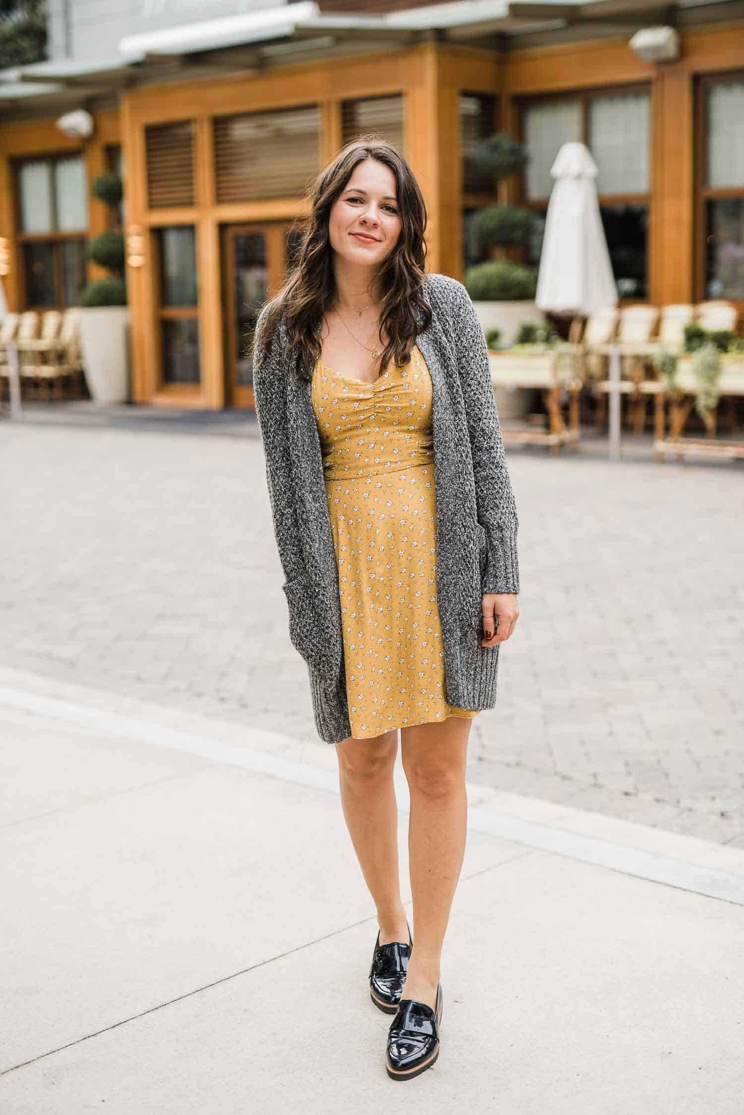 summer dress with cardigan, how to transition your summer dresses into fall - My Style Vita