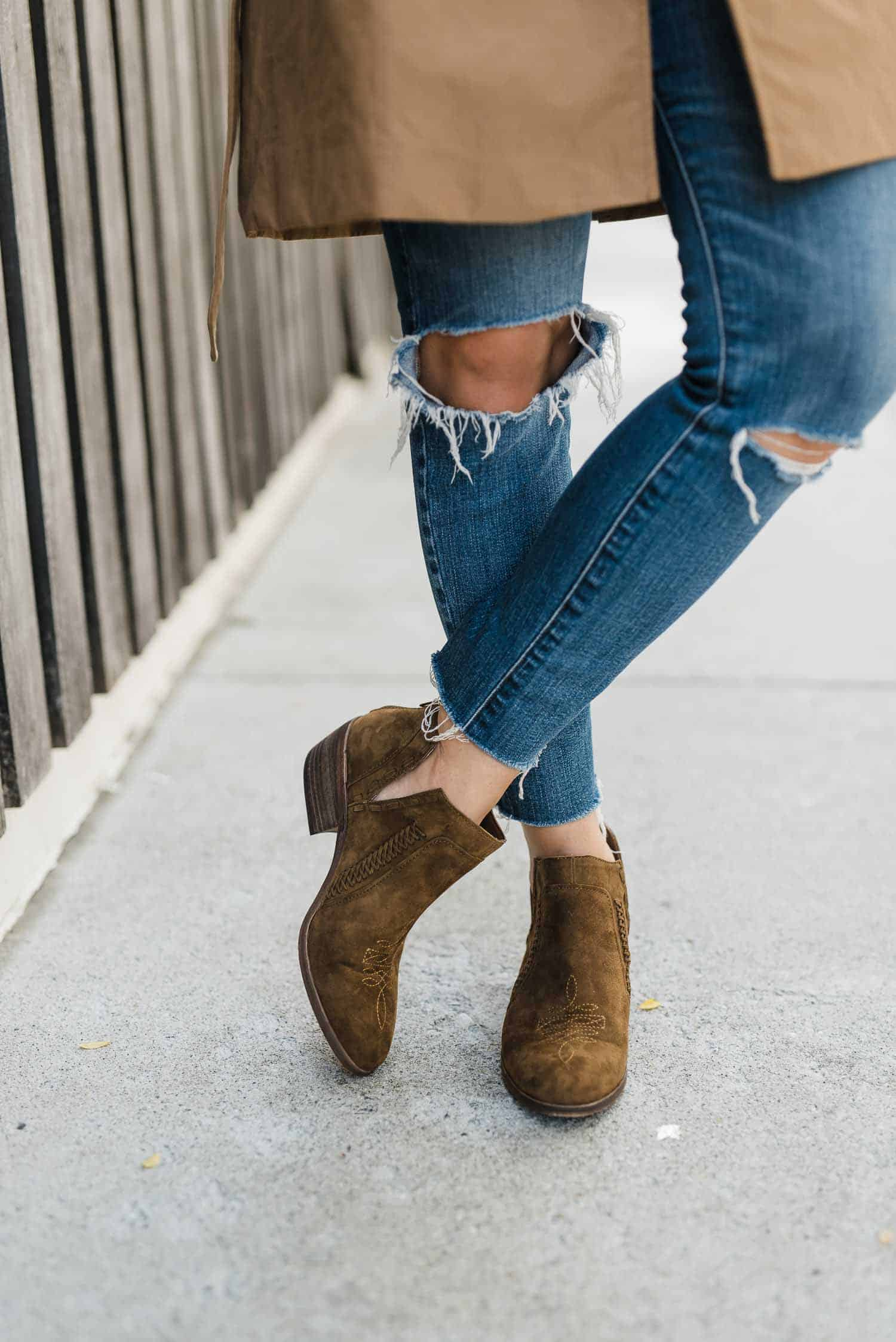 western style booties Vince Camuto