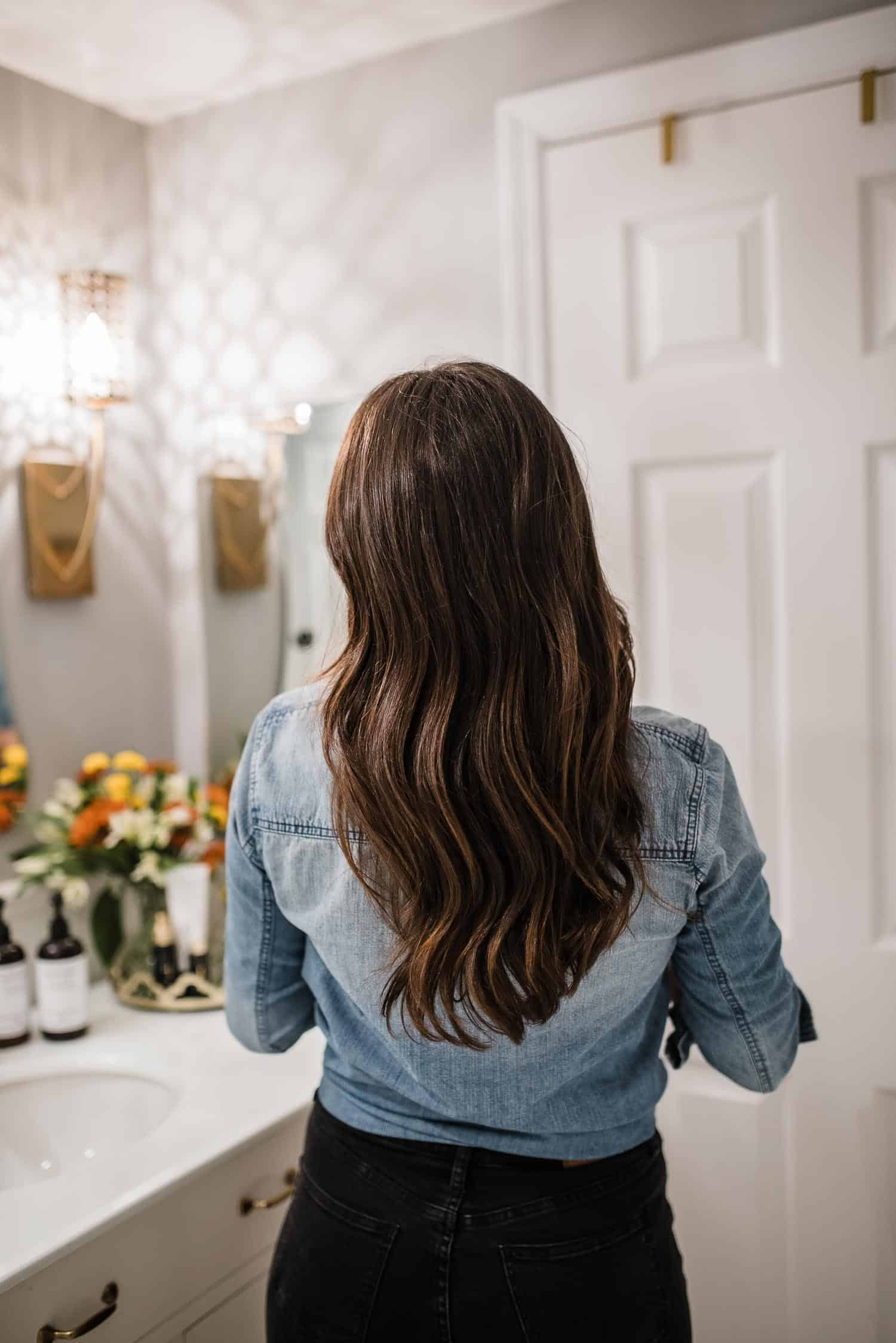 Tips for healthier hair, stronger hair, long brown balayage hair - My Style Vita