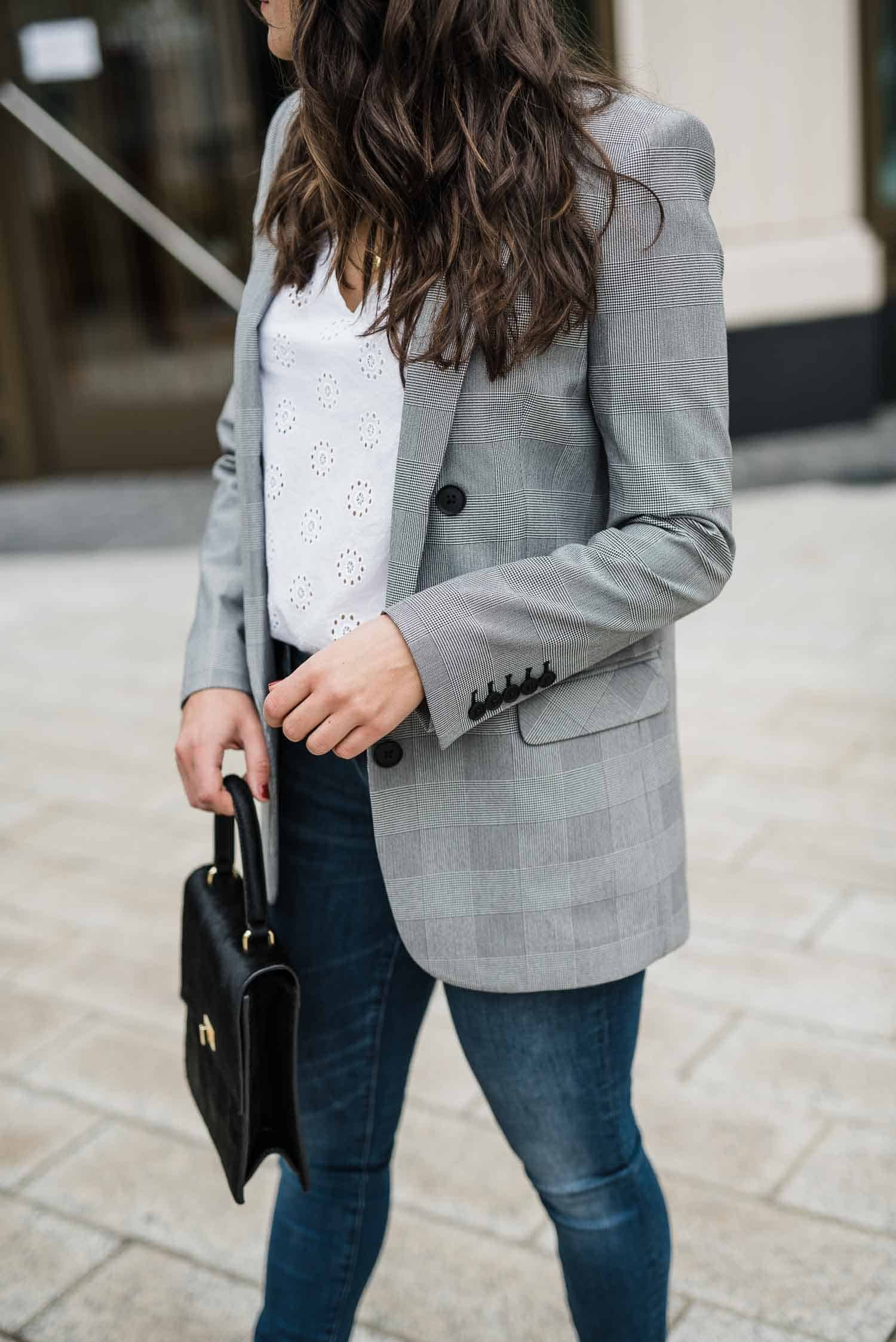 blazer for fall, fall oversized blazer, fall outfit ideas, styling summer outfits into fall - My Style Vita