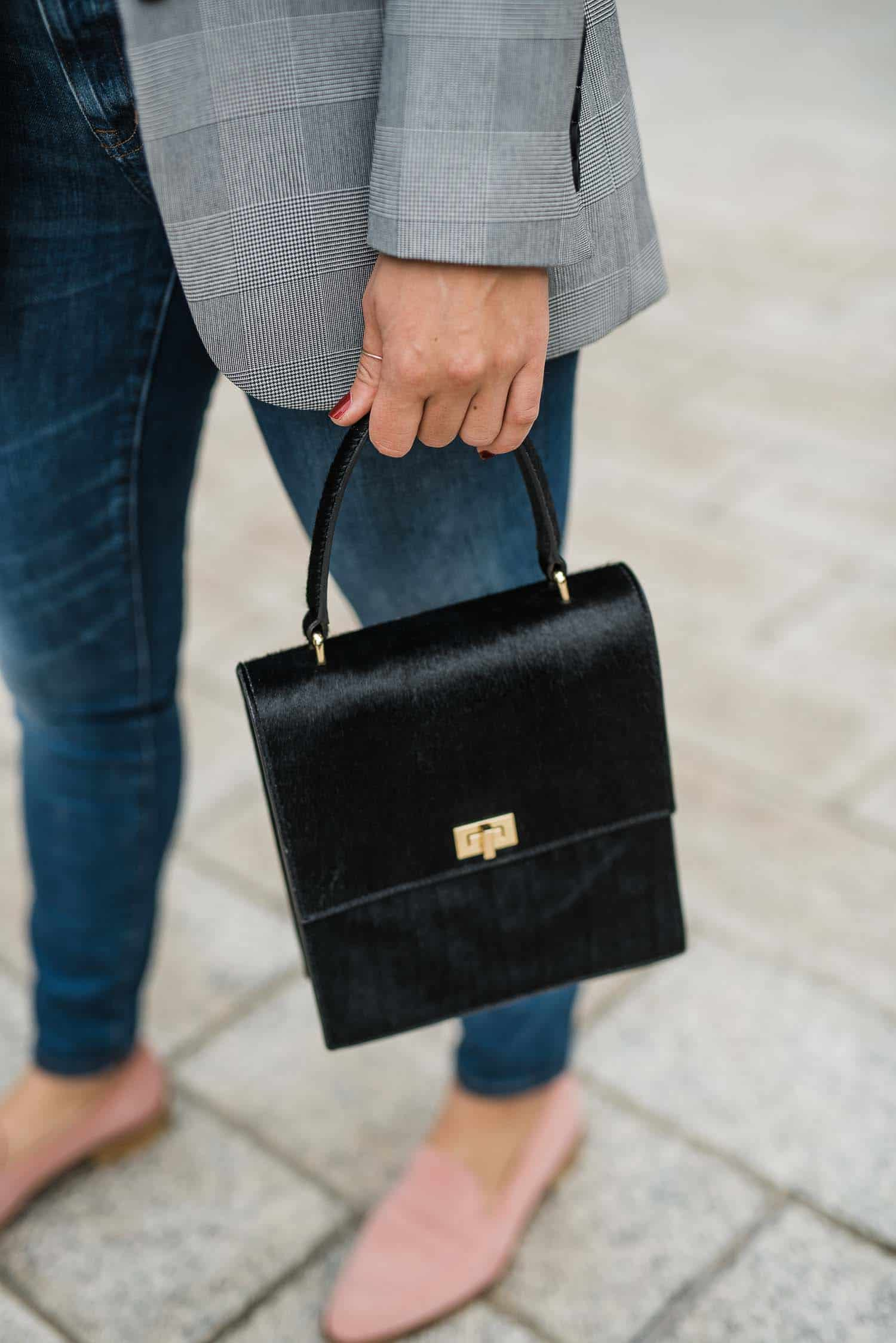 black suede bag, black lady bag - My Style Vita