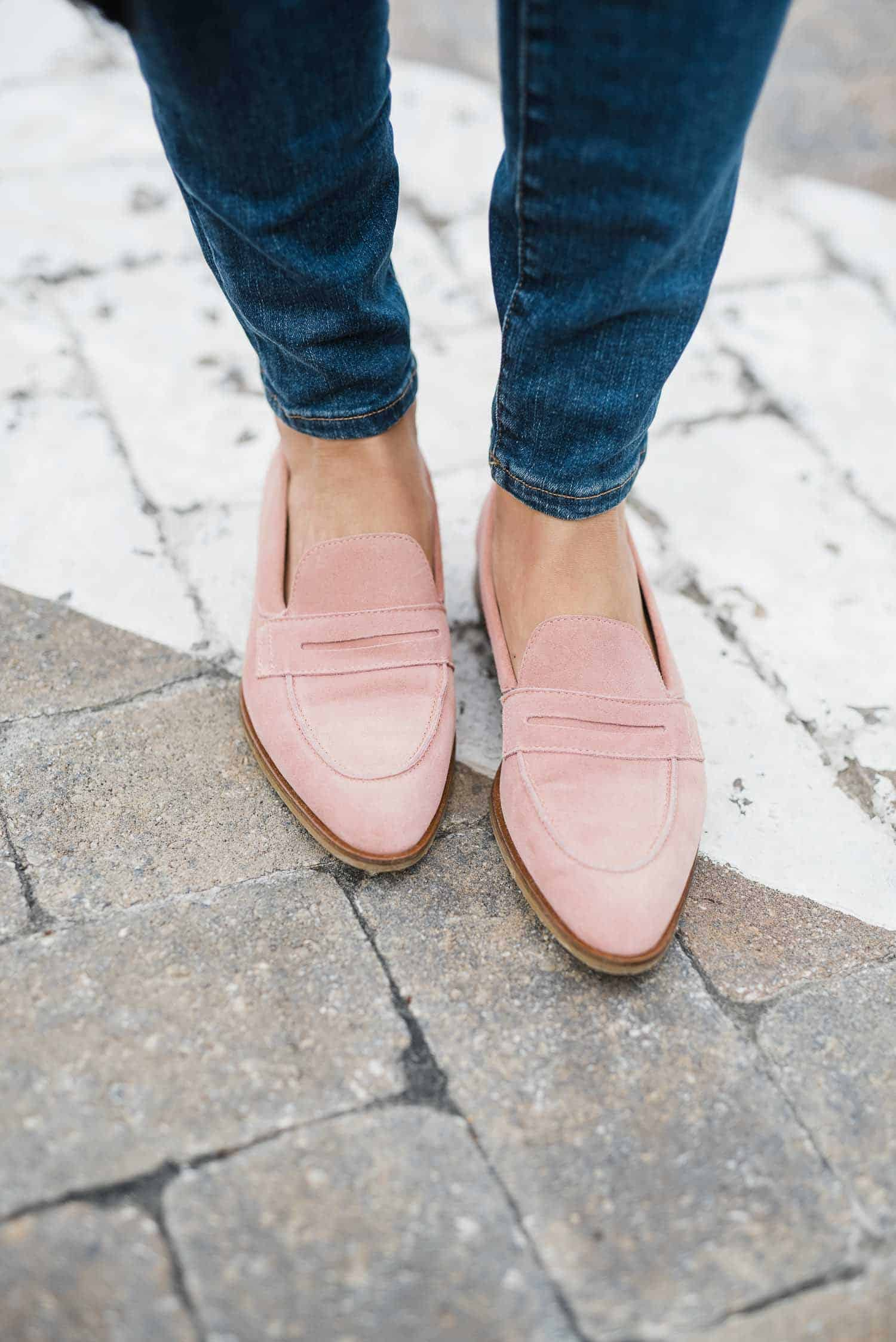 blush loafers, Everlane loafers for fall - My Style Vita