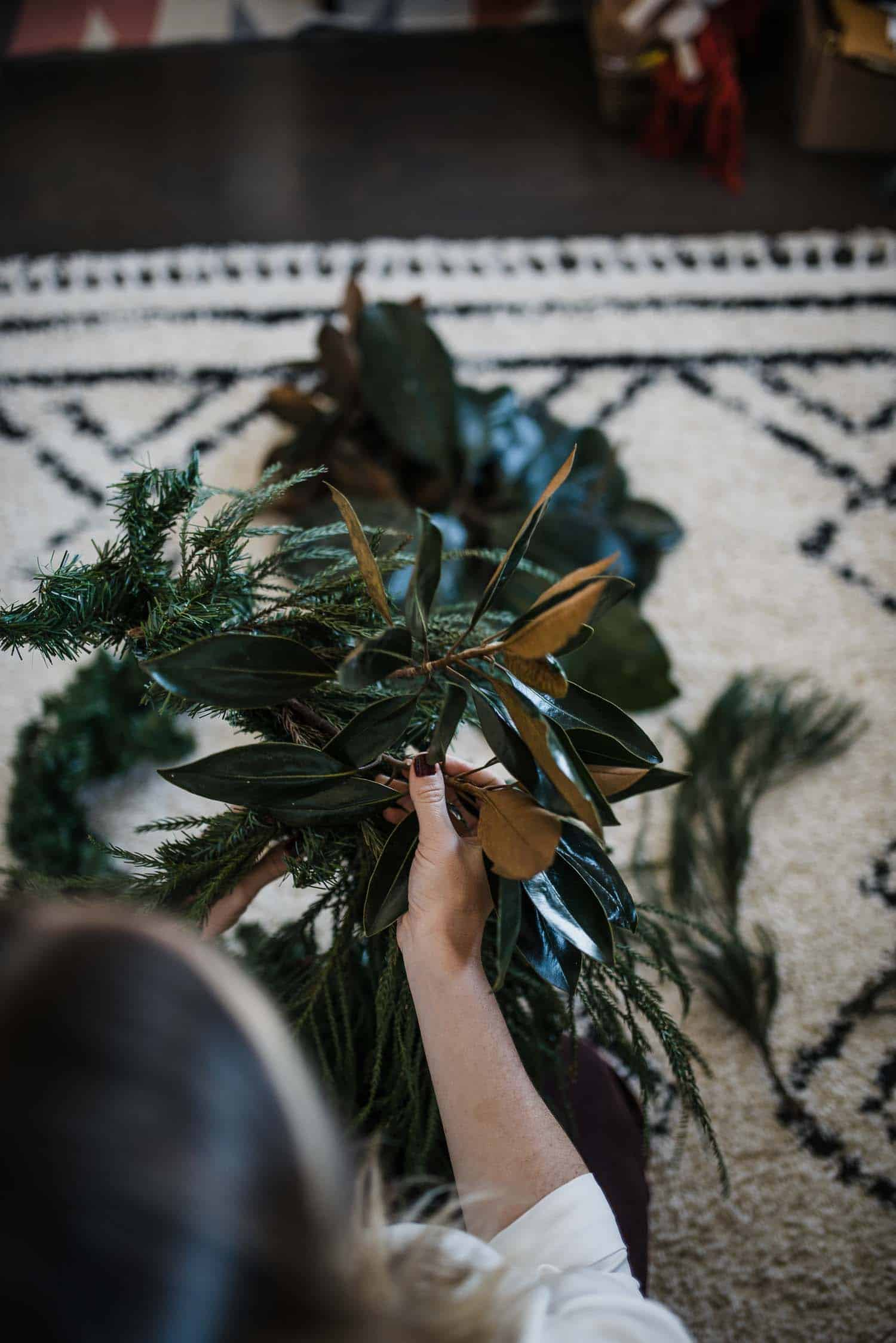 DIY Garland, how to make real garland, Christmas garland ideas