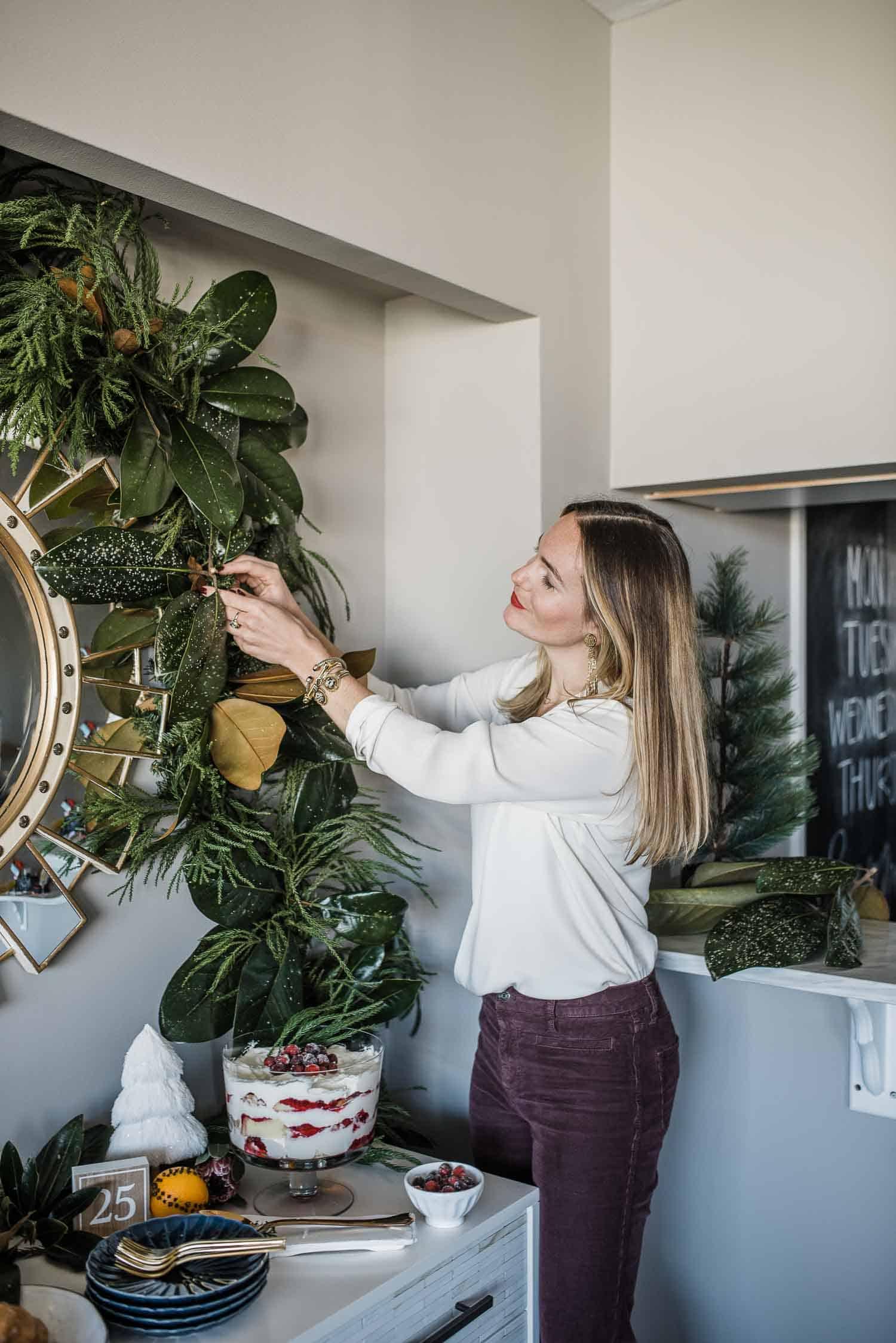 How to DIY magnolia garland