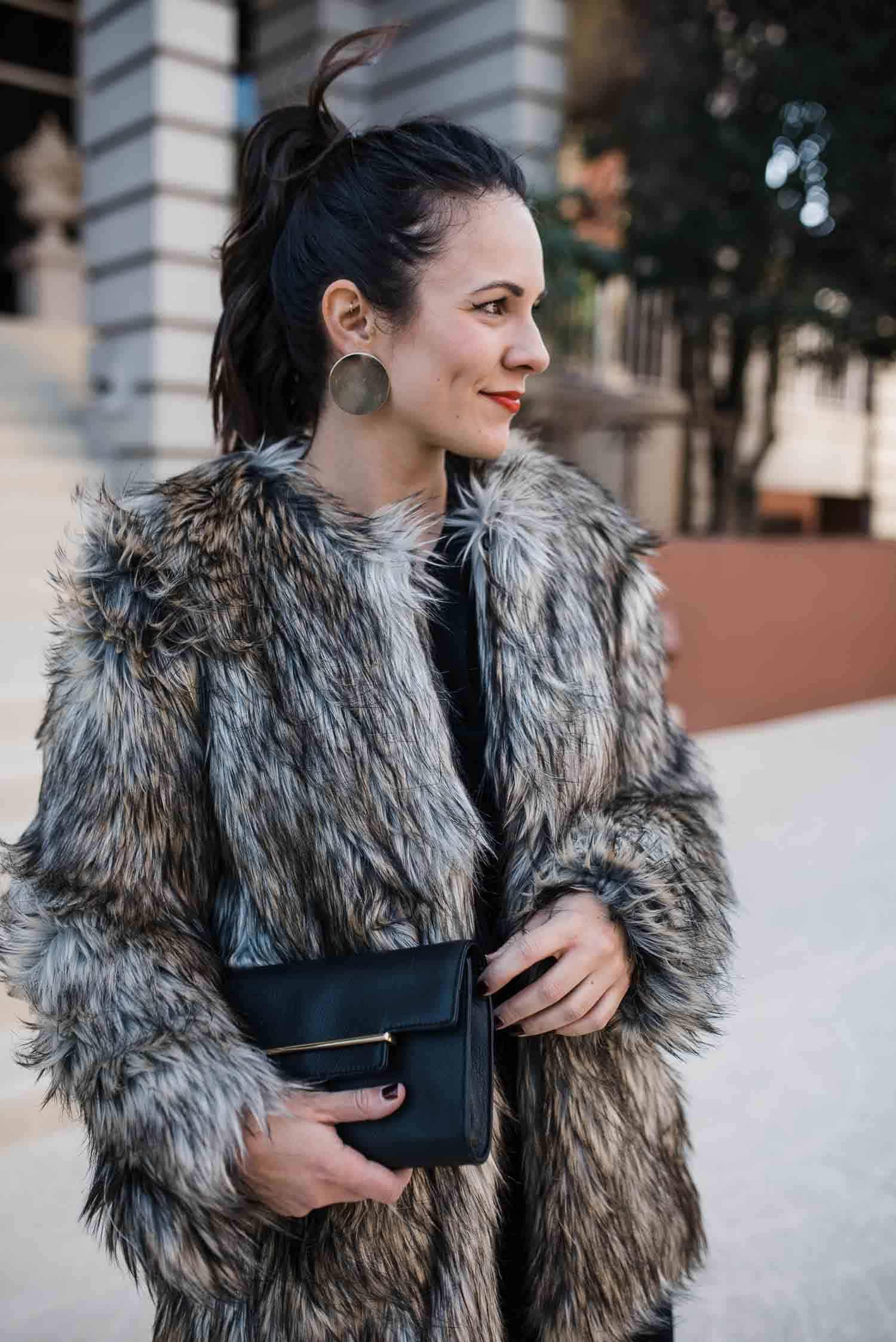 Vince Camuto faux fur jacket - Jessica Camerata