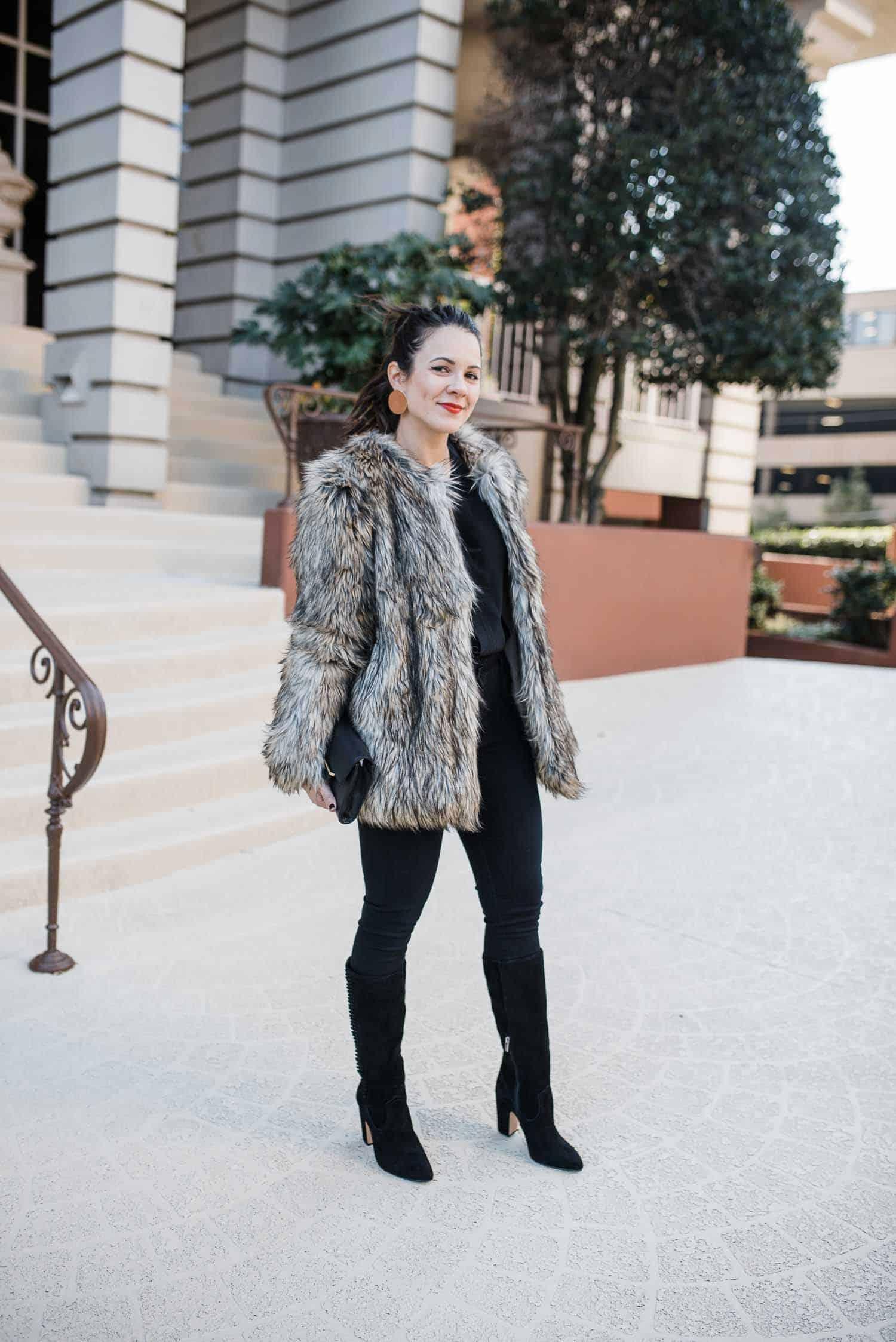 b7b88eeecc Vince Camuto faux fur jacket - My Style Vita ...