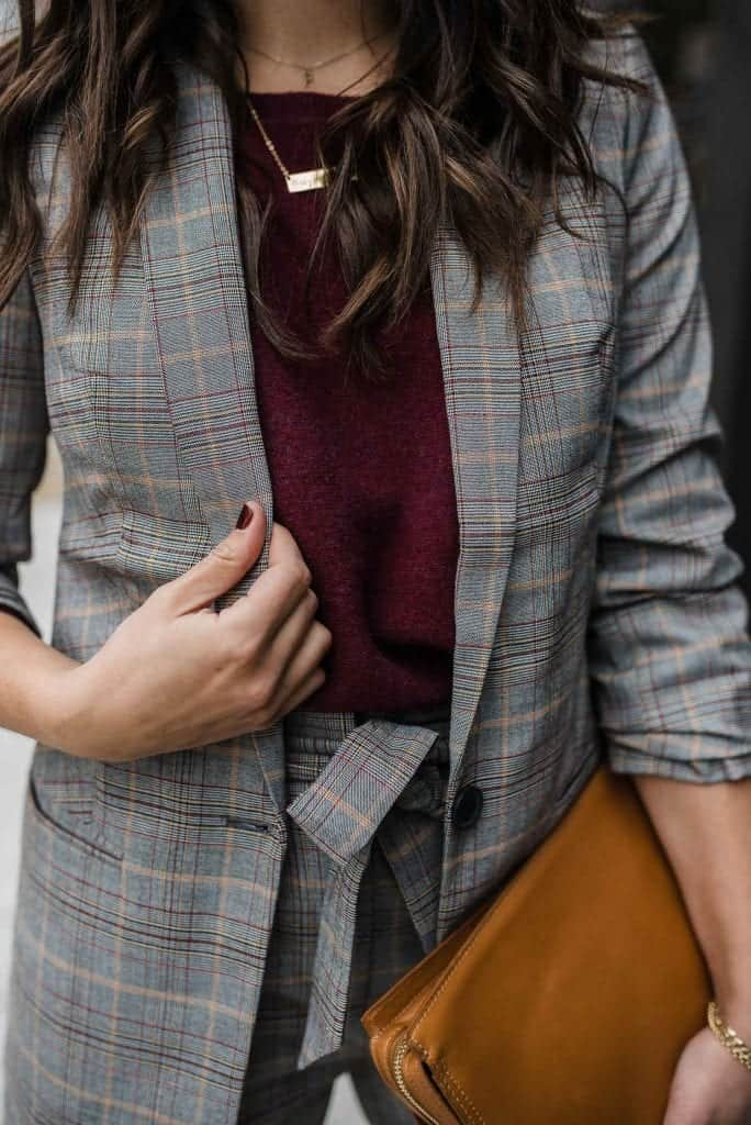 affordable suits for women, how to style a suit for fall - My Style Vita