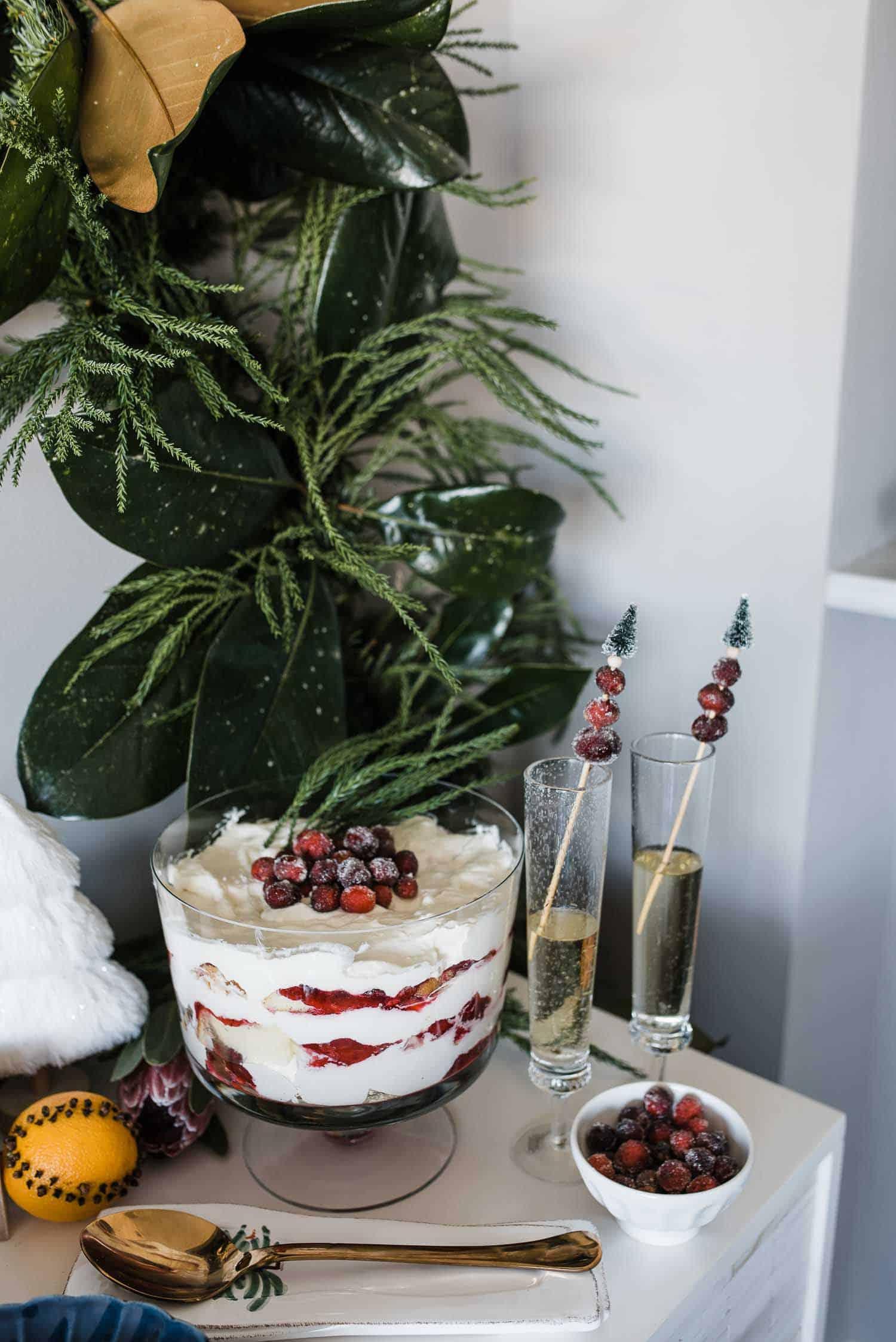 dessert bar, cranberry trifle, thanksgiving recipe - My Style VIta
