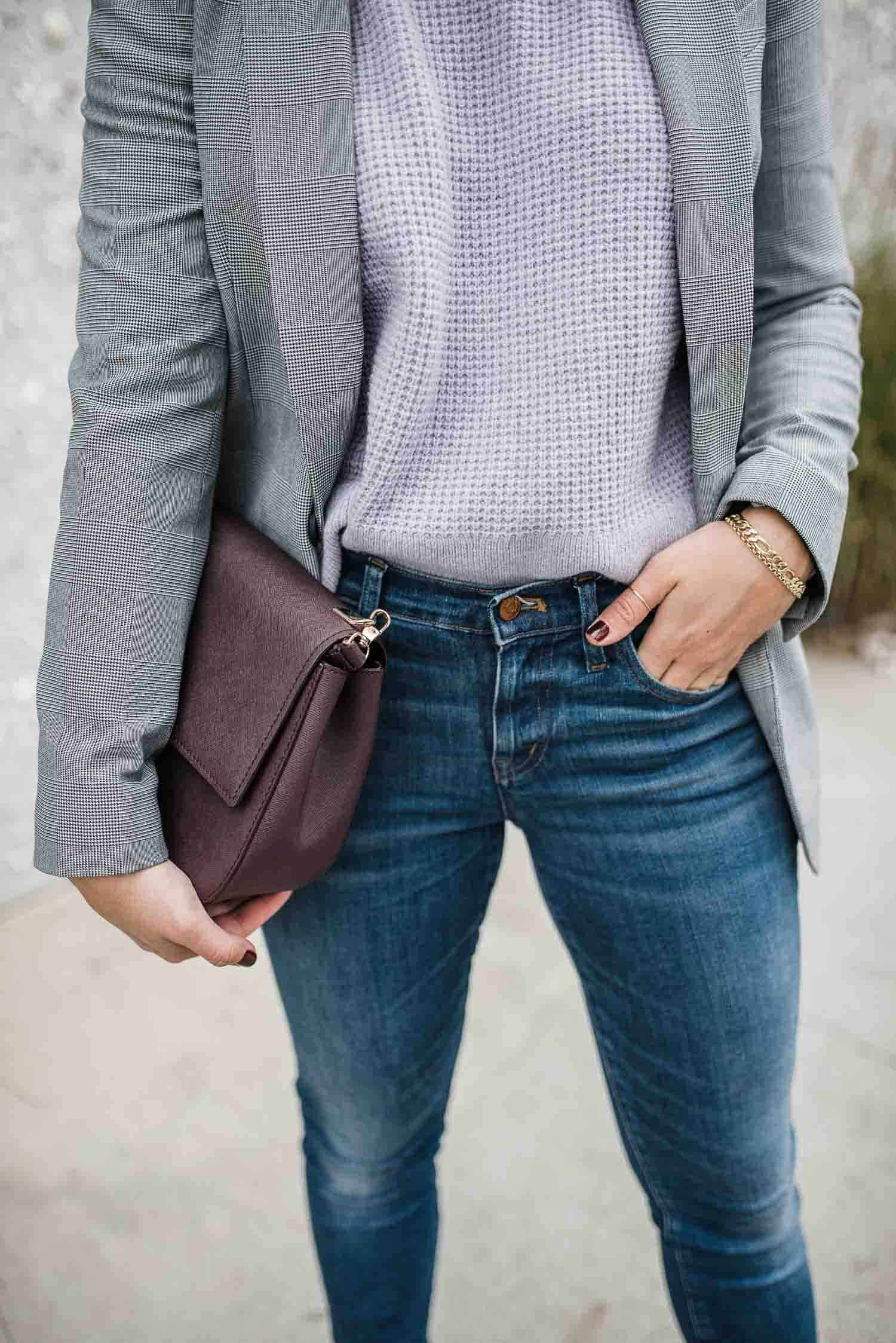 Express Blazer • Everlane Sweater
