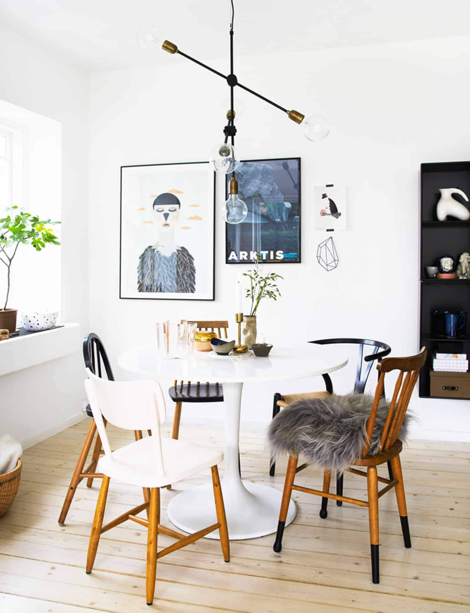mismatched chairs, dining room ideas, kitchen eating area - My Style Vita