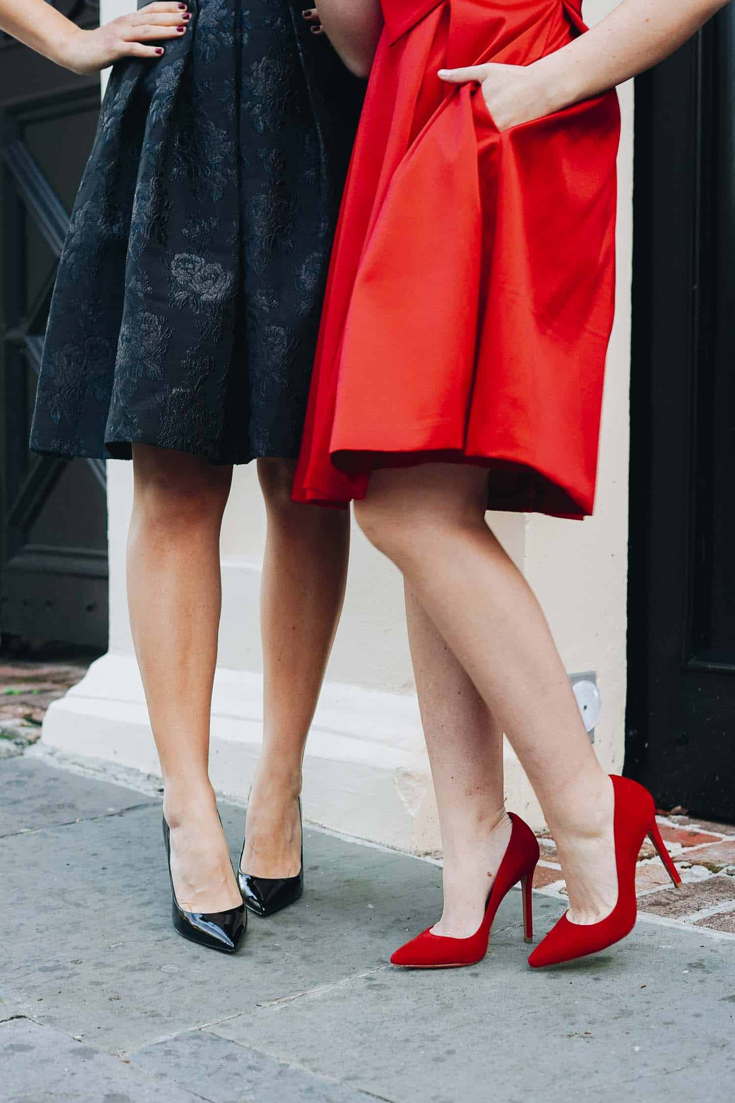 Black and Red - shoes and dress