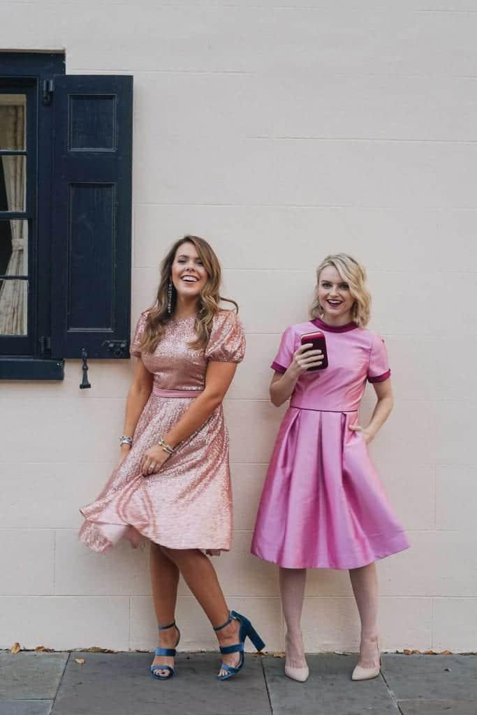 Beatrix Sequined Dress • Annabelle Bow Dress