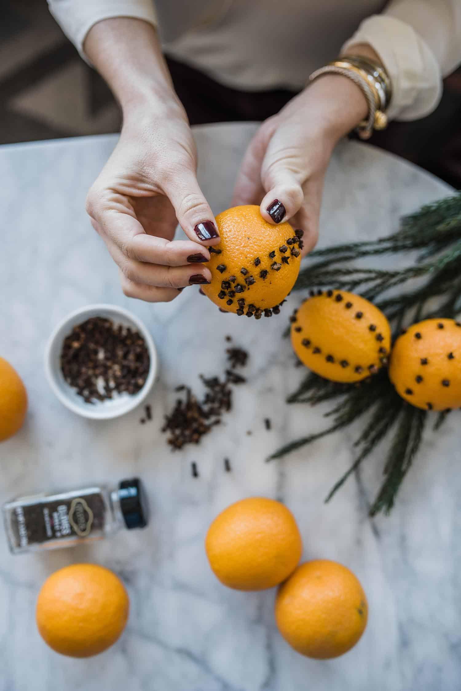 DIY Orange Pomander Balls