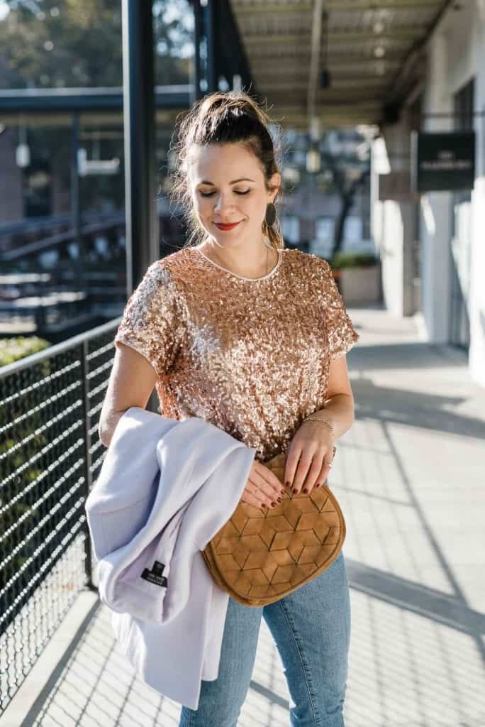 The Gold Sequined Tee That's Way More Versatile Than You Think