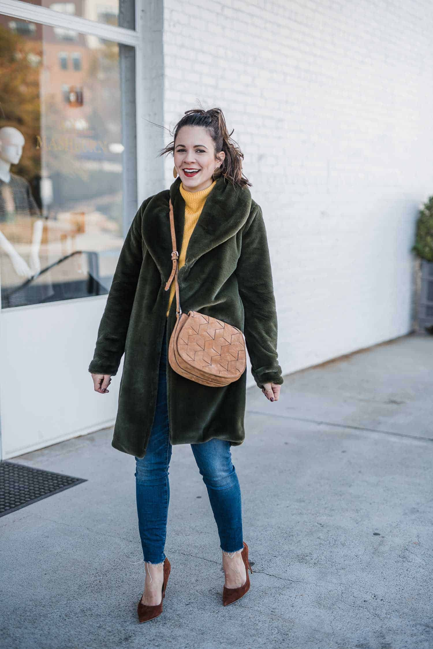 The Green Faux Fur Coat I Unexpectedly Fell In Love With