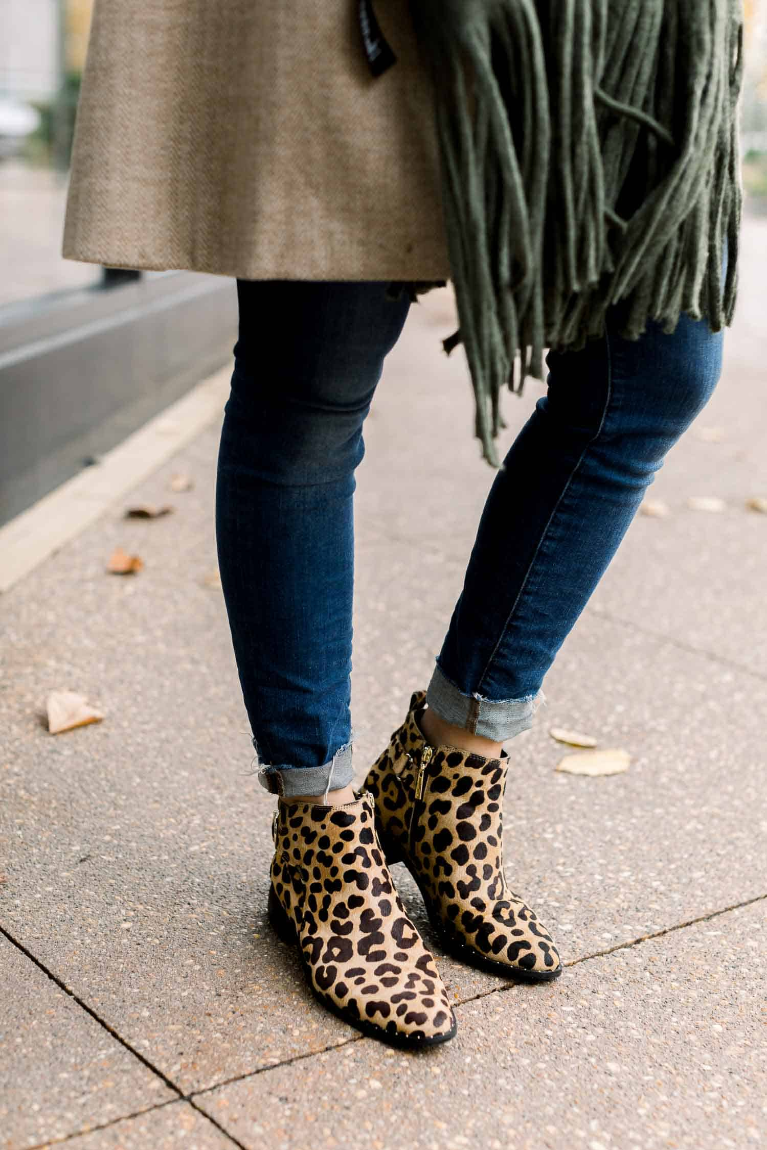 Jessica's Outfit: Madewell Jeans • Steven Leopard Booties - ON SALE!