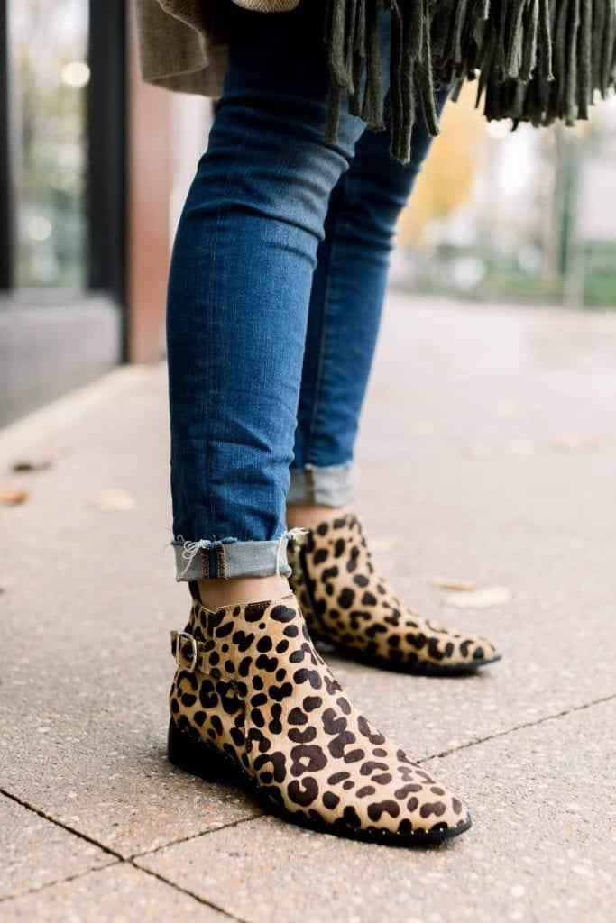 animal print Fall Boots