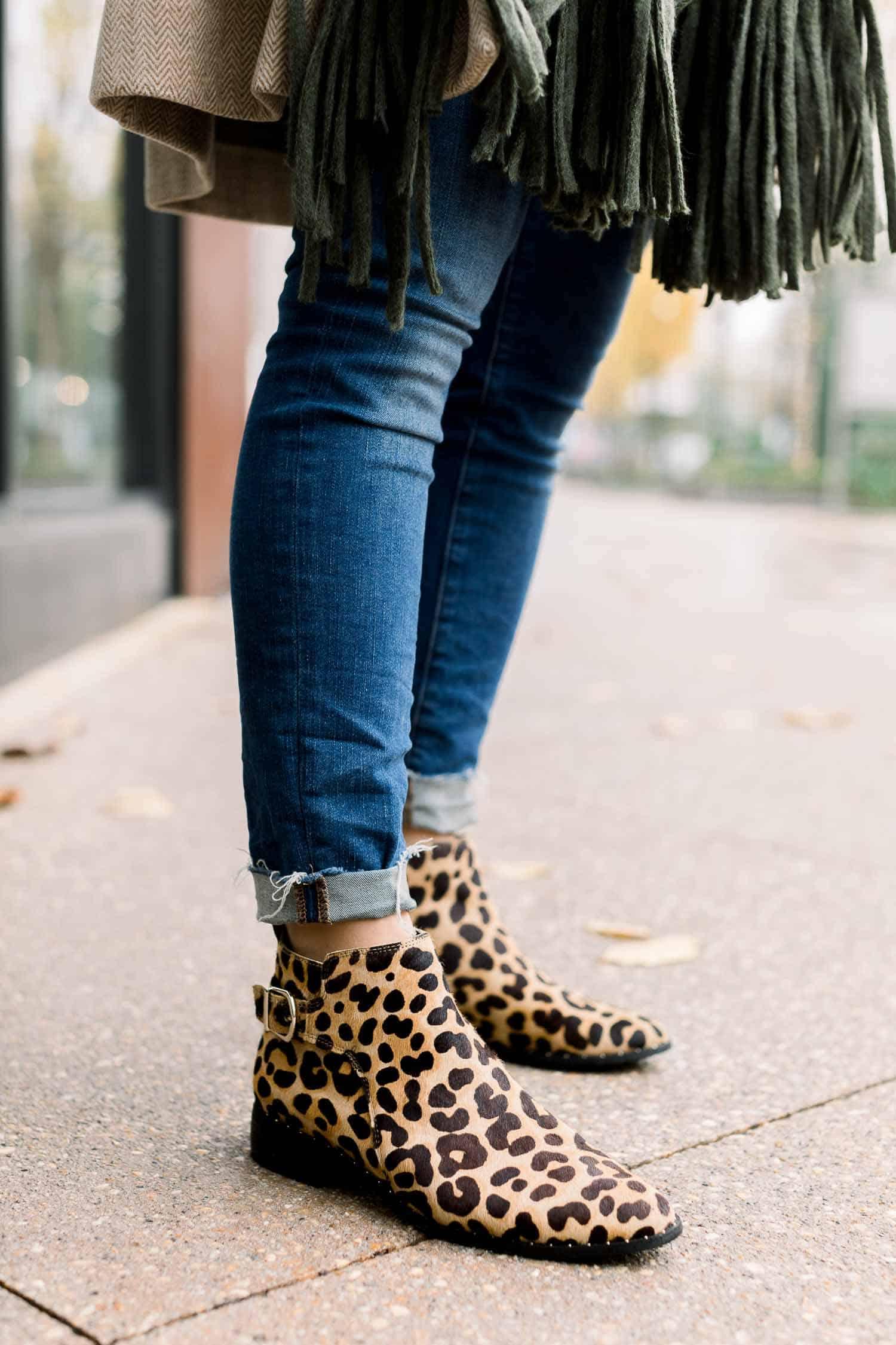 Steven Leopard Booties