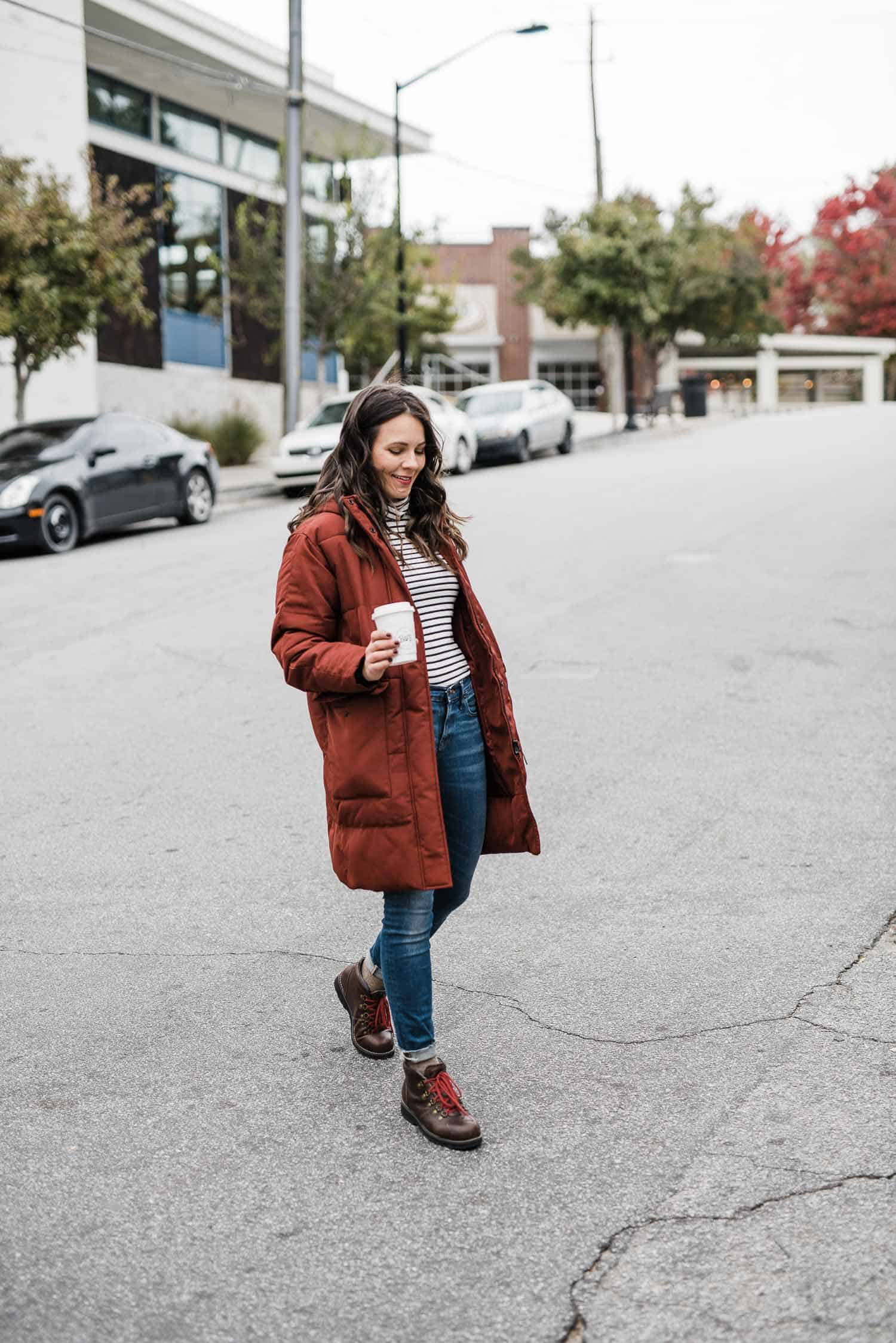 puffy parka coat, everlane renew puffer coat, how to style ea winter coat and boots - My Style Vita