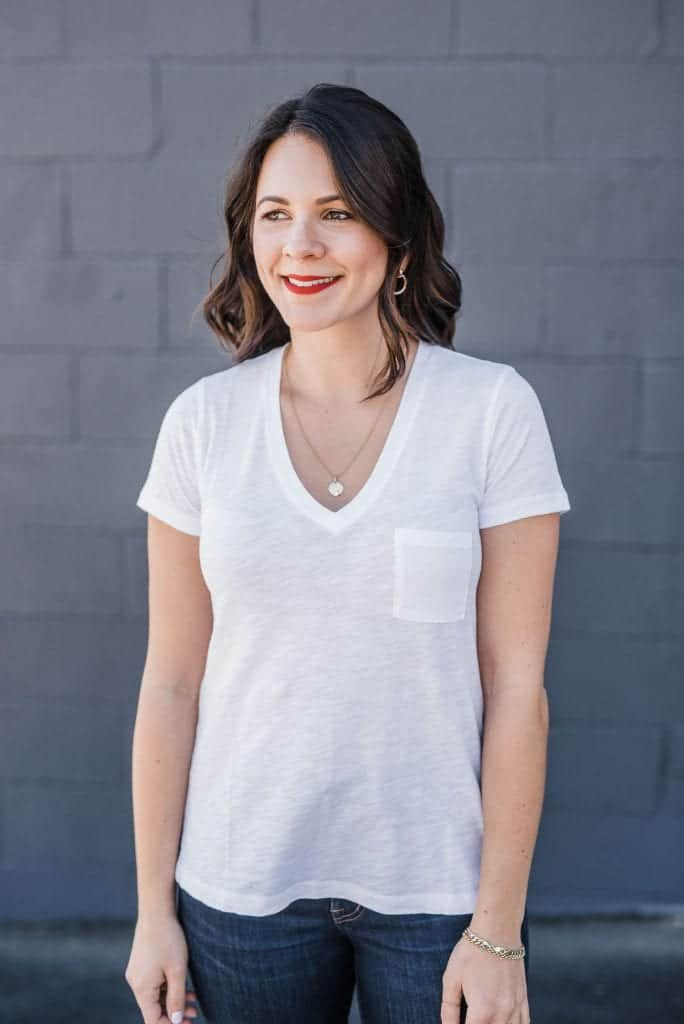 Madewell Whisper Cotton Pocket V Neck