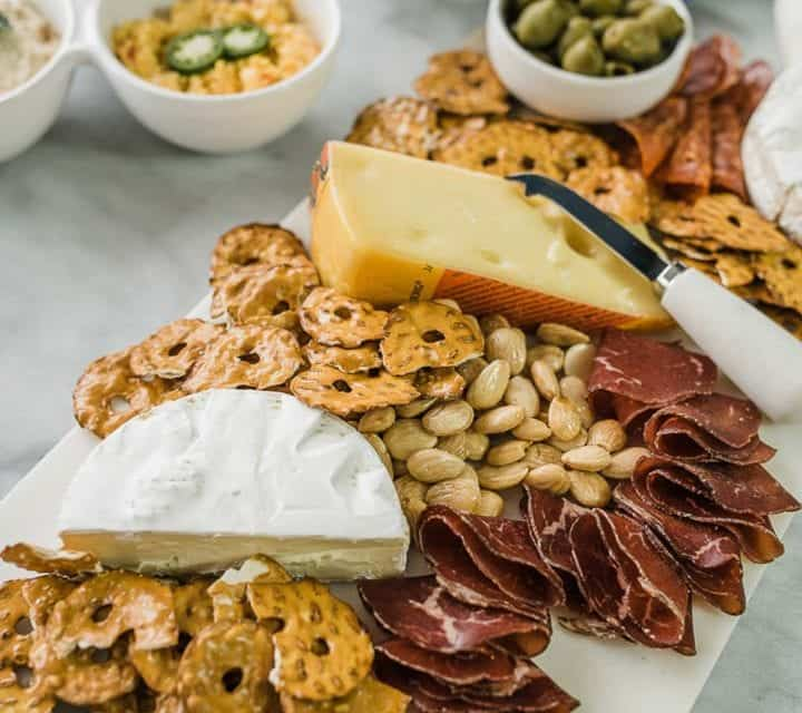 cheese board ideas for game day-1-2