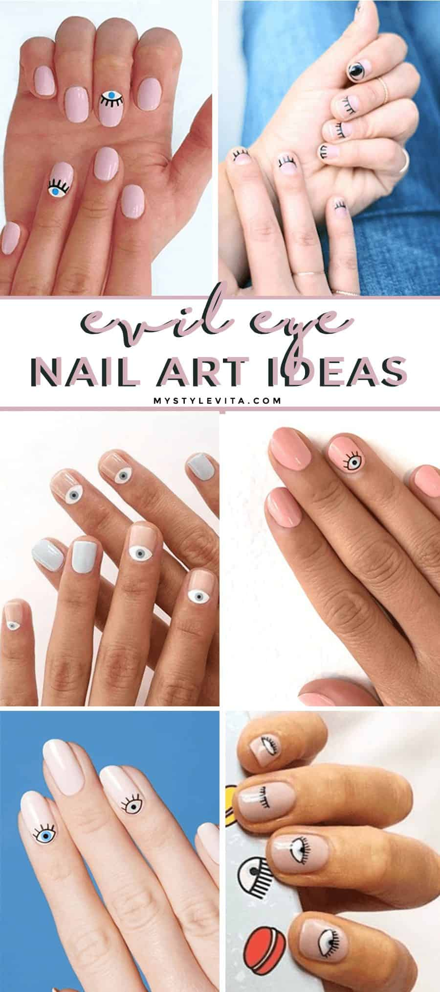 Evil Eye Nail Art Trend I'm Obsessed With