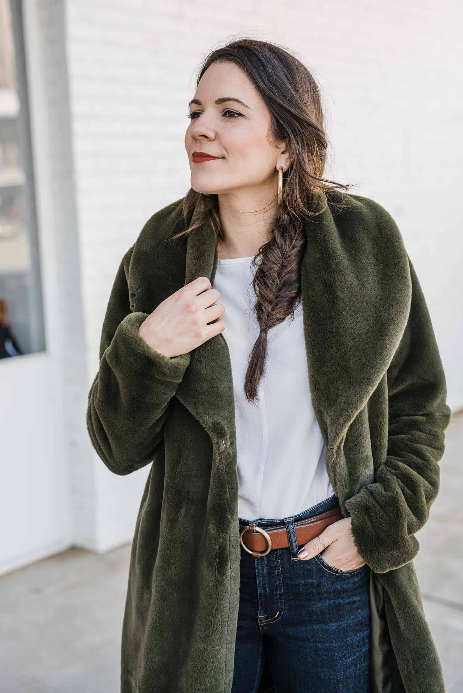 Green Faux Fur Outfit by My Stile Vita