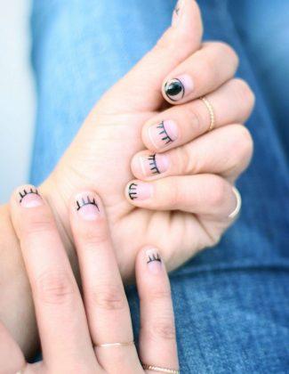eyelash & evil eye nail art ideas by my style vita