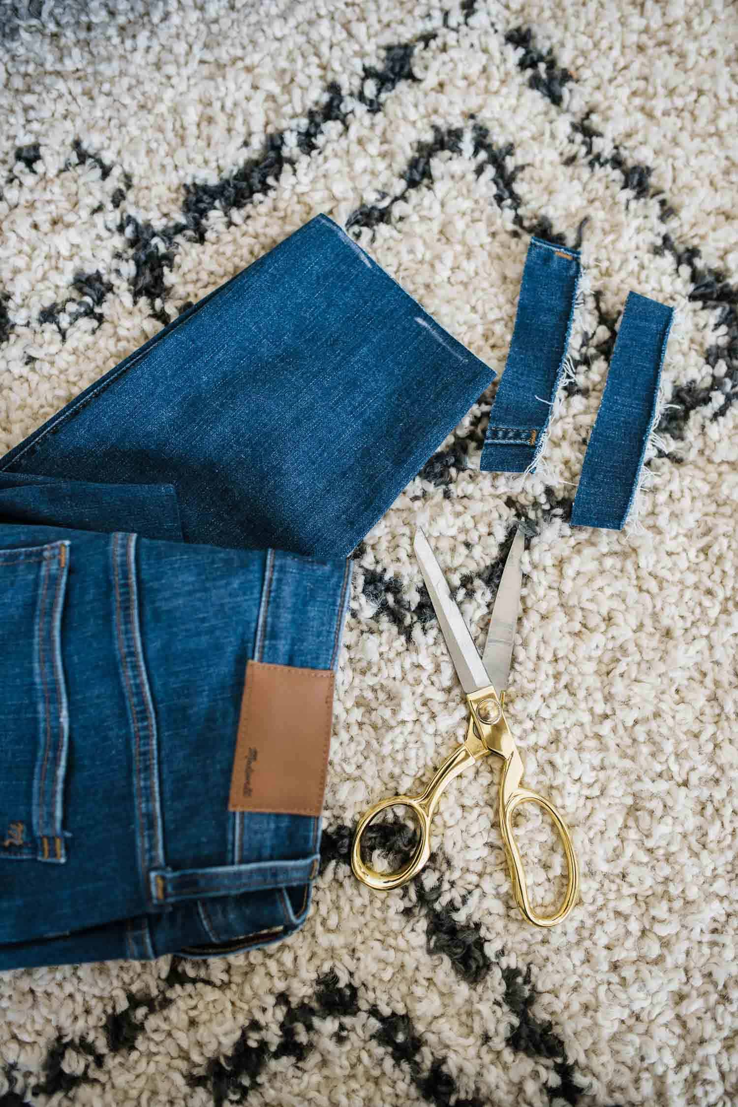 How To Hem Your Jeans In One FREE Step by My Style Vita