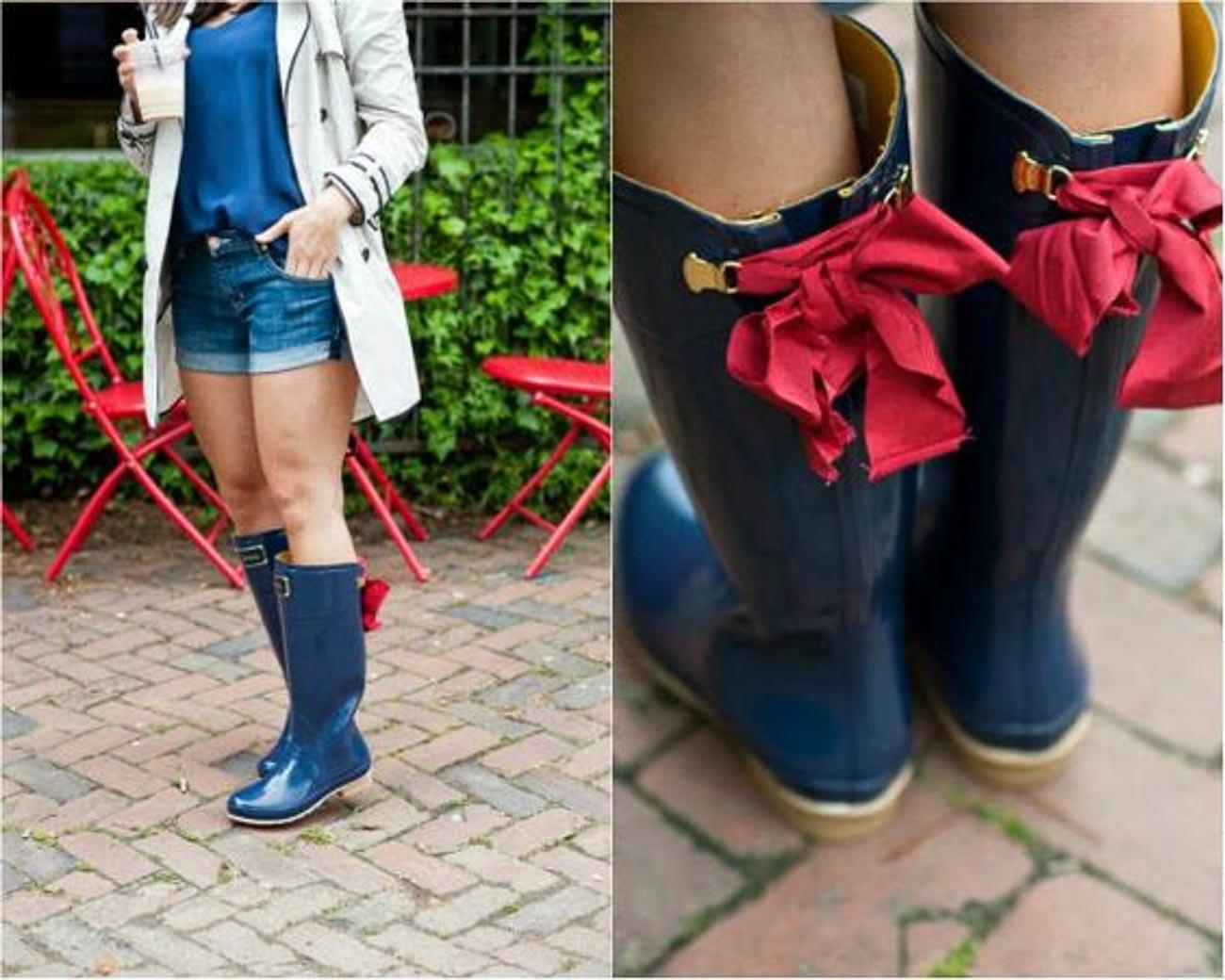 bow back rain boots, Joules rain boots