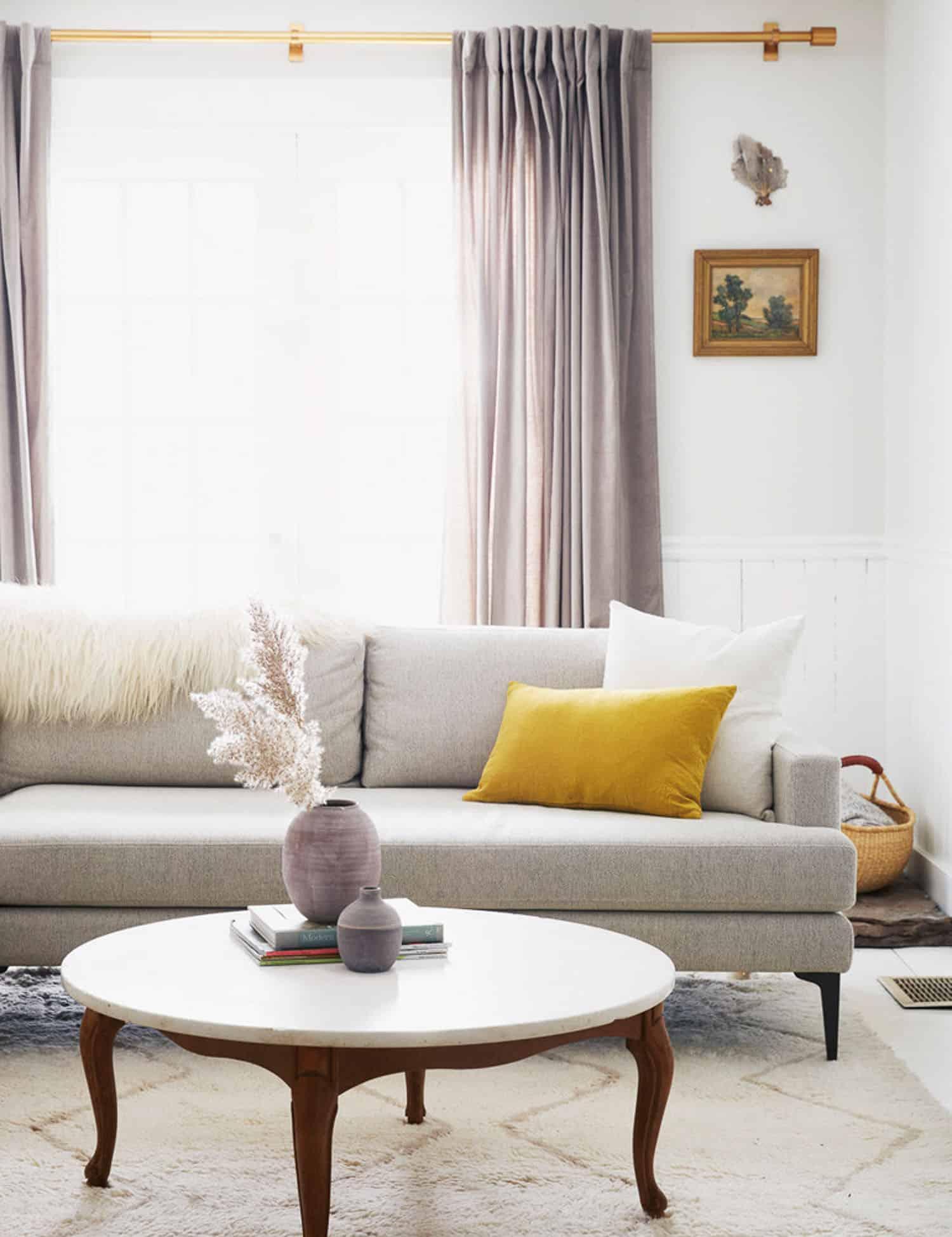 Yellow & Lilac - preppy decor color combination.