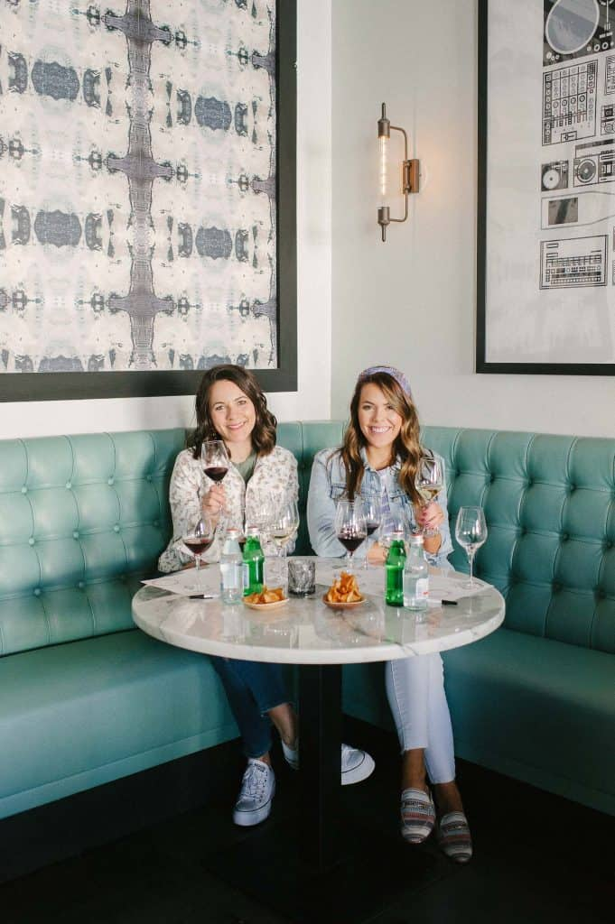 Jessica Camerata and her friend at Charleston Wine + Food