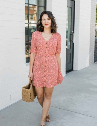 casual summer printed dress