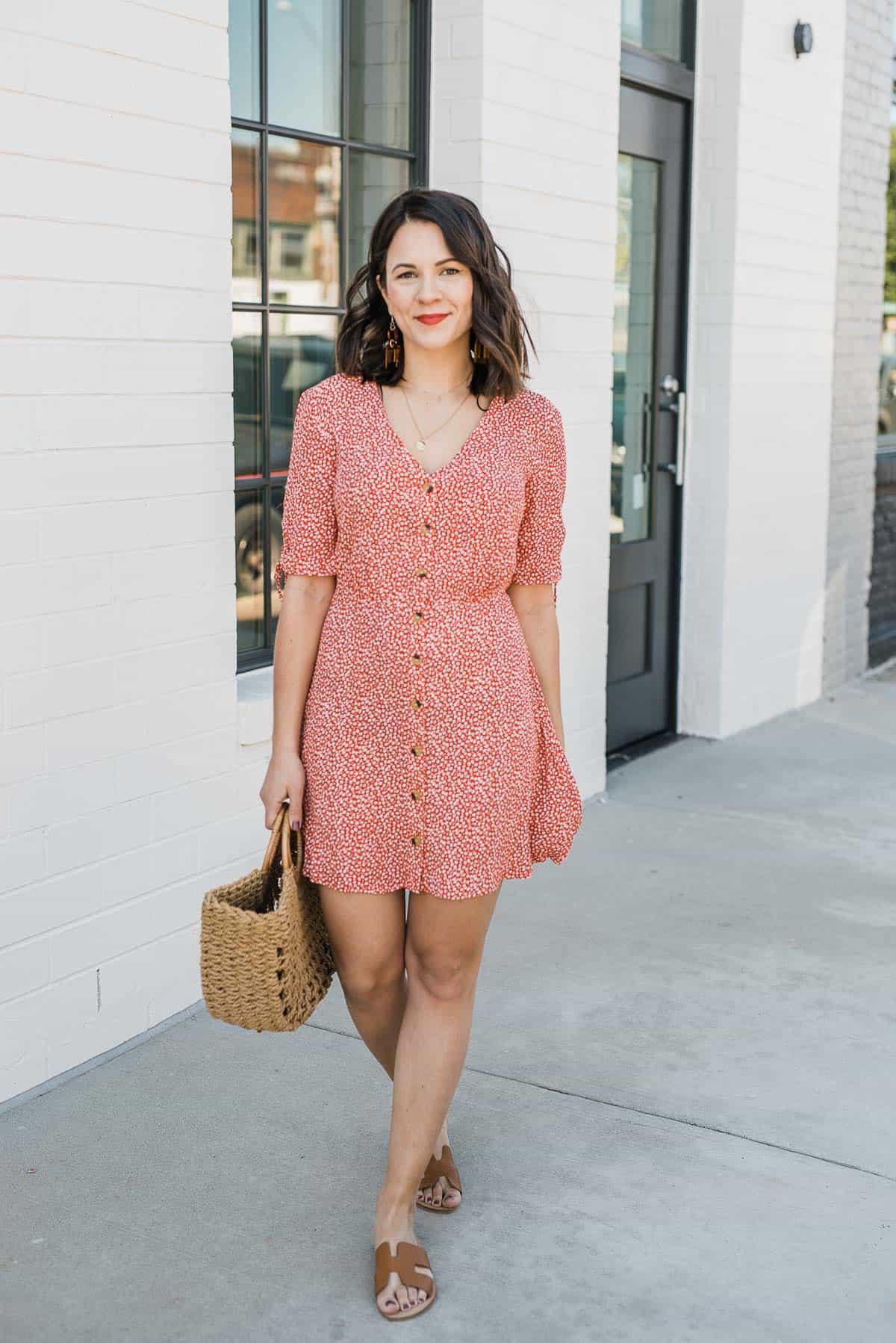casual summer printed dress