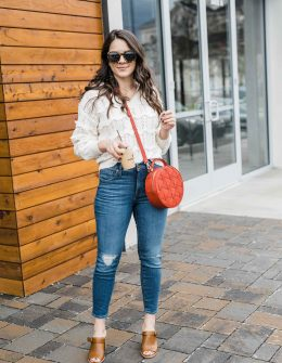 A Few Ways To Style A Cream Spring Sweater