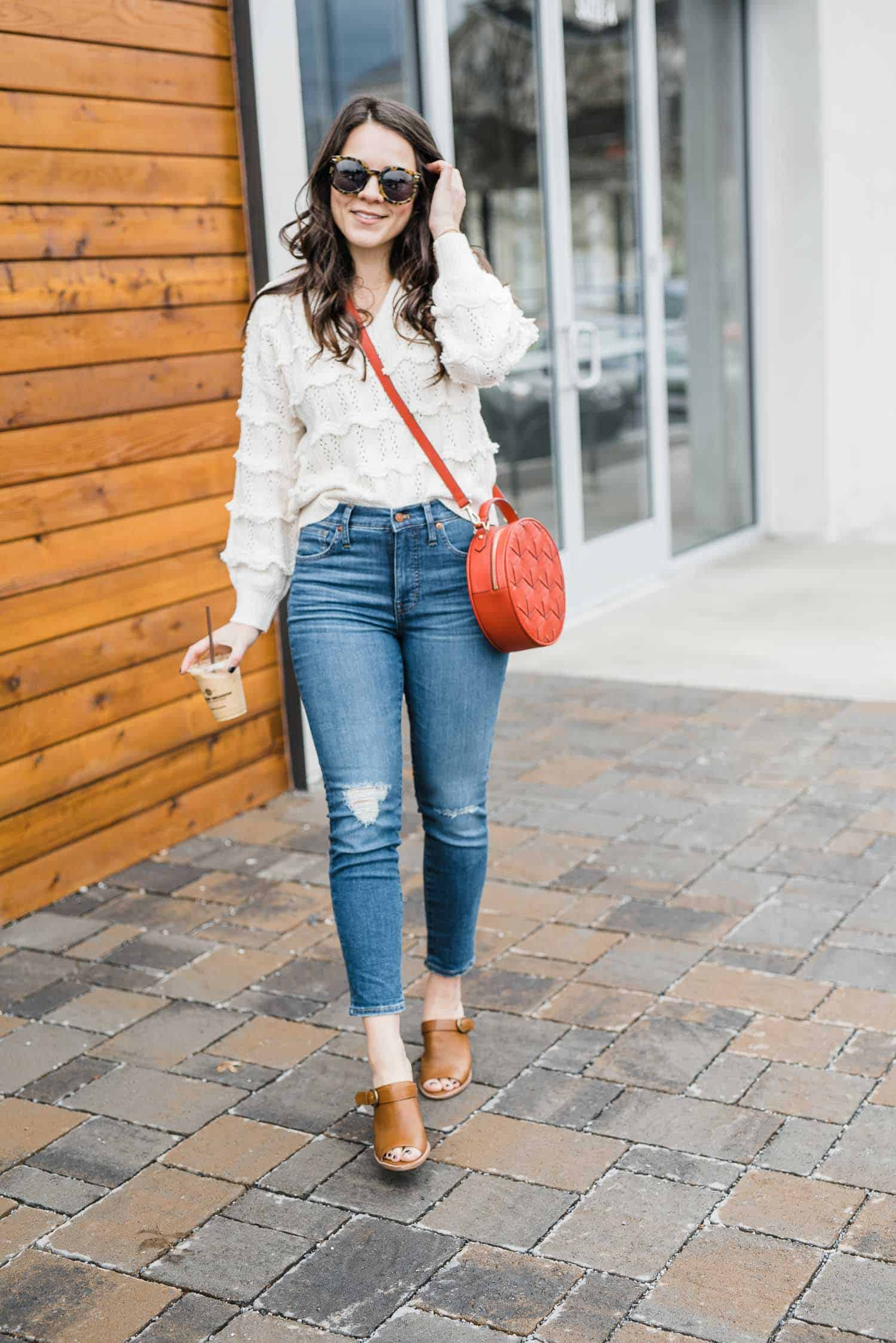 Style ideas for a cream spring sweater