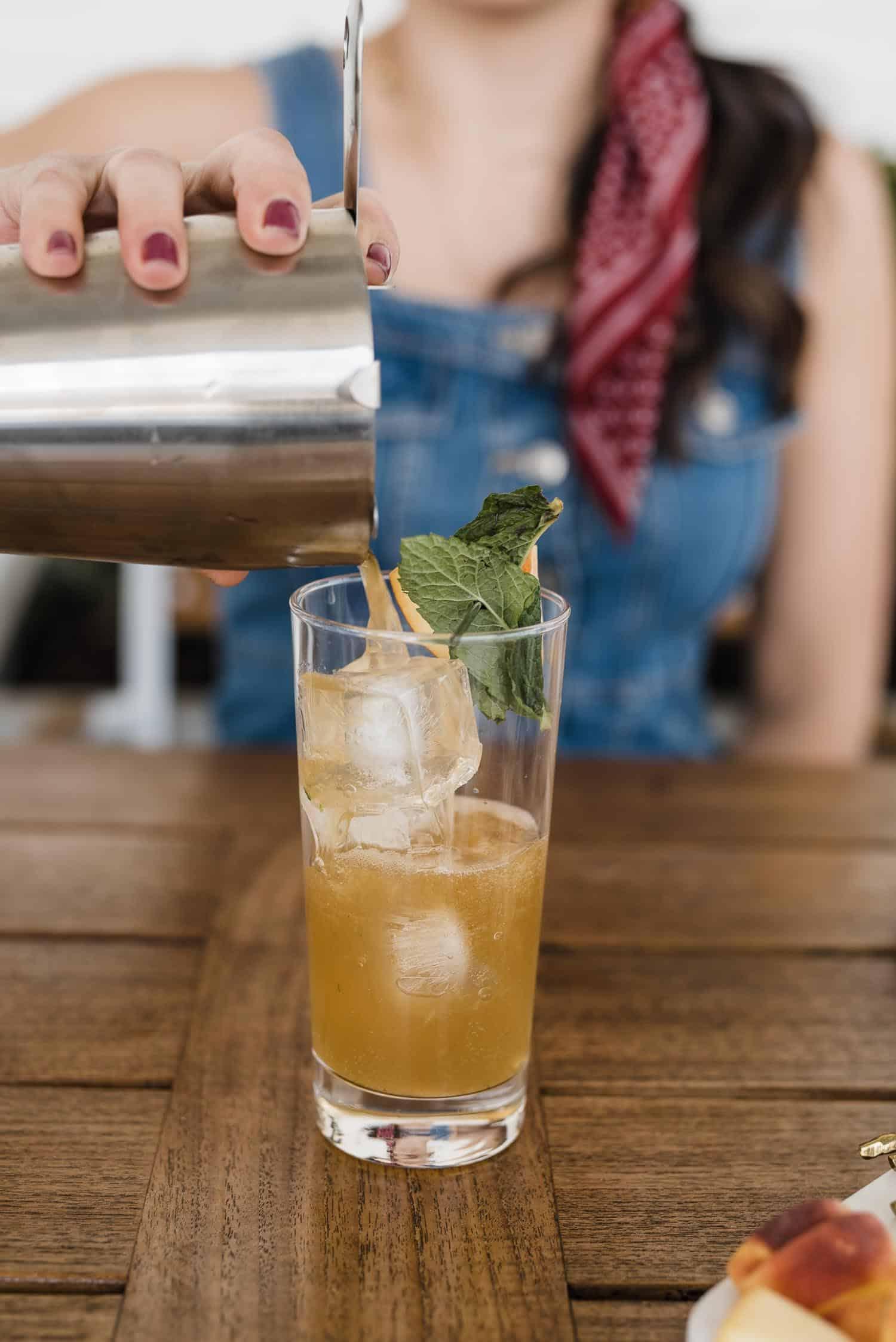 Peach Mint Bourbon Smash Cocktail by My Style Vita