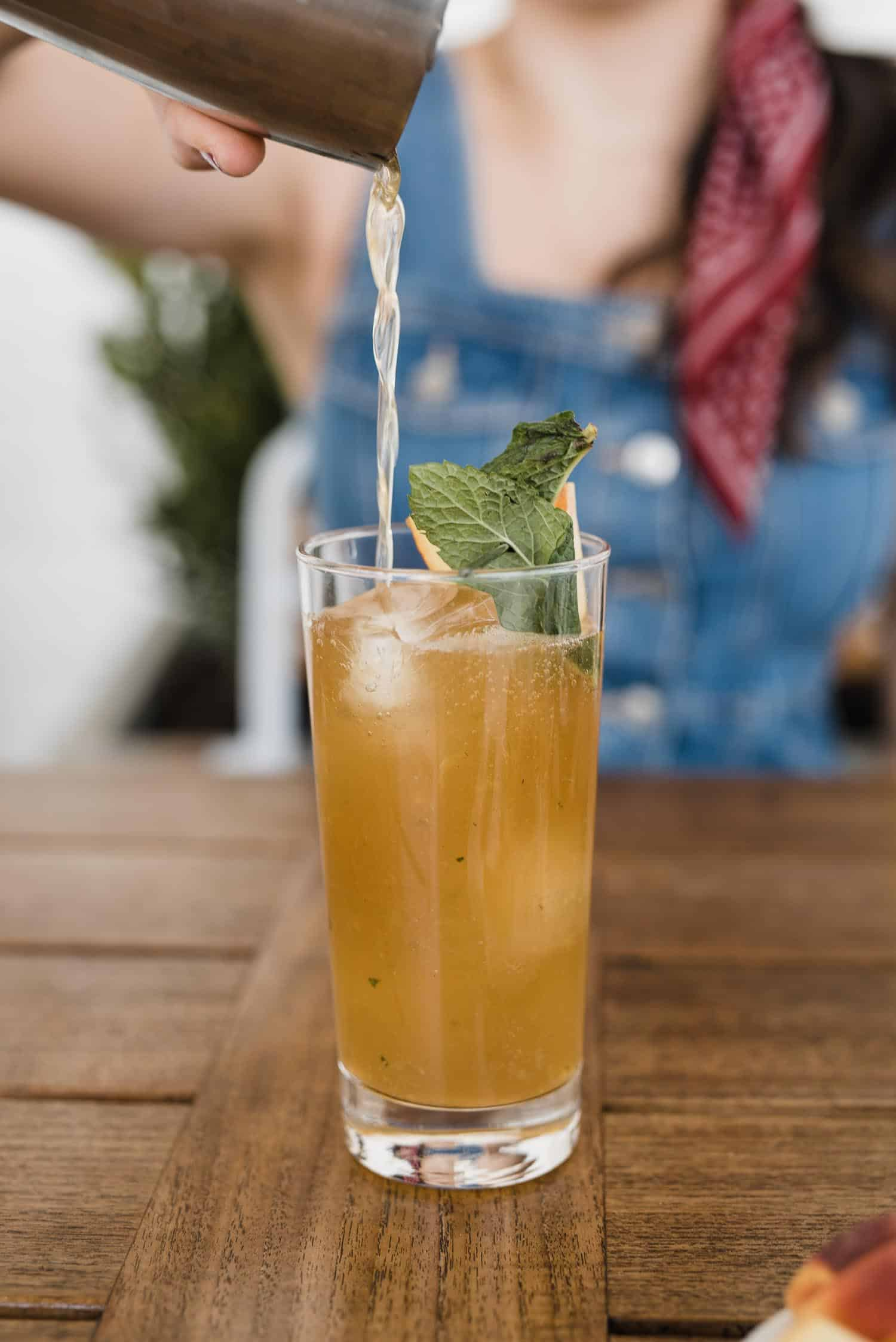 A Peach Mint Smash Cocktail That's Perfect For Summer by Jessica Camerata