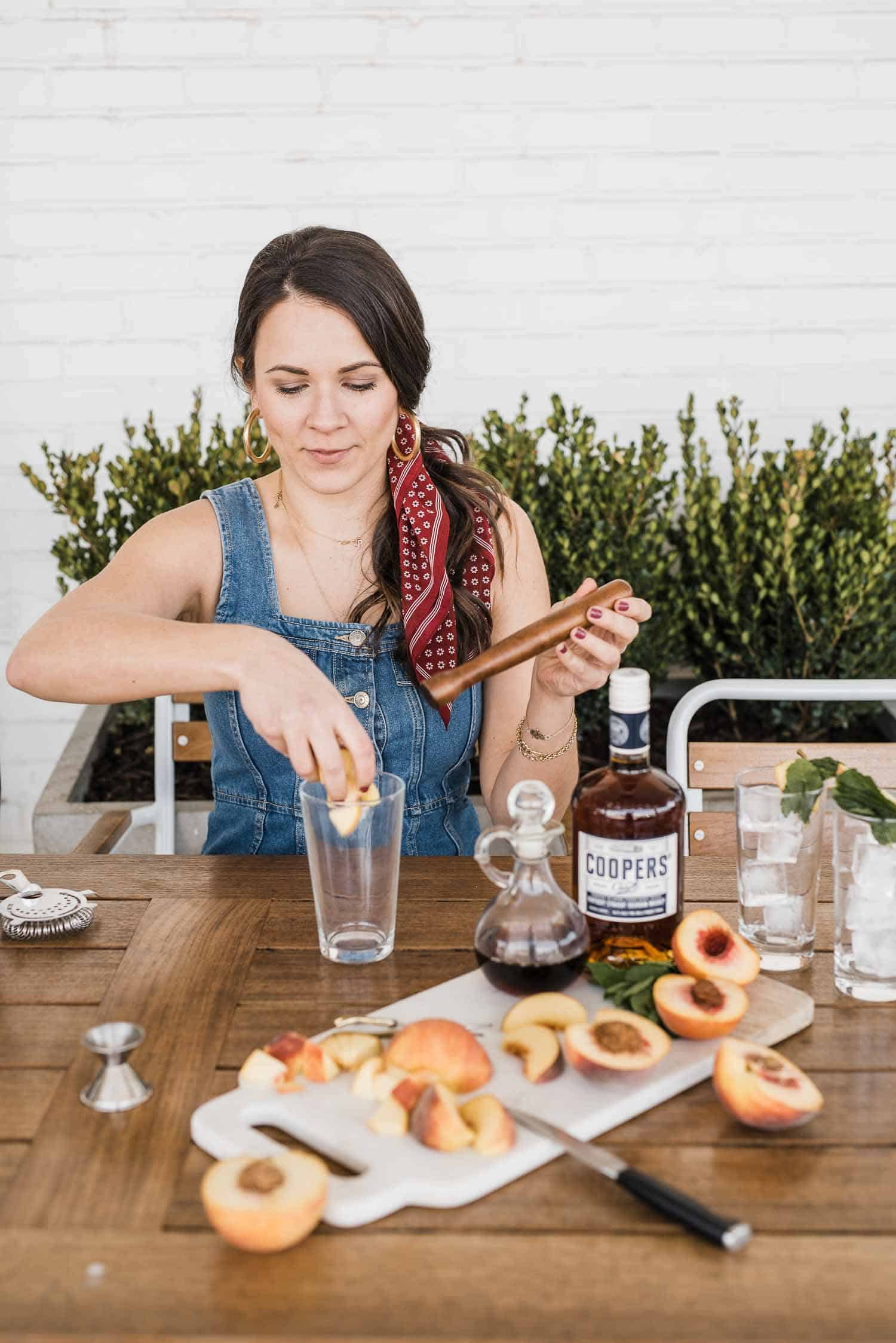How To Make A Peach Mint Smash Cocktail With Coopers' Craft Bourbon
