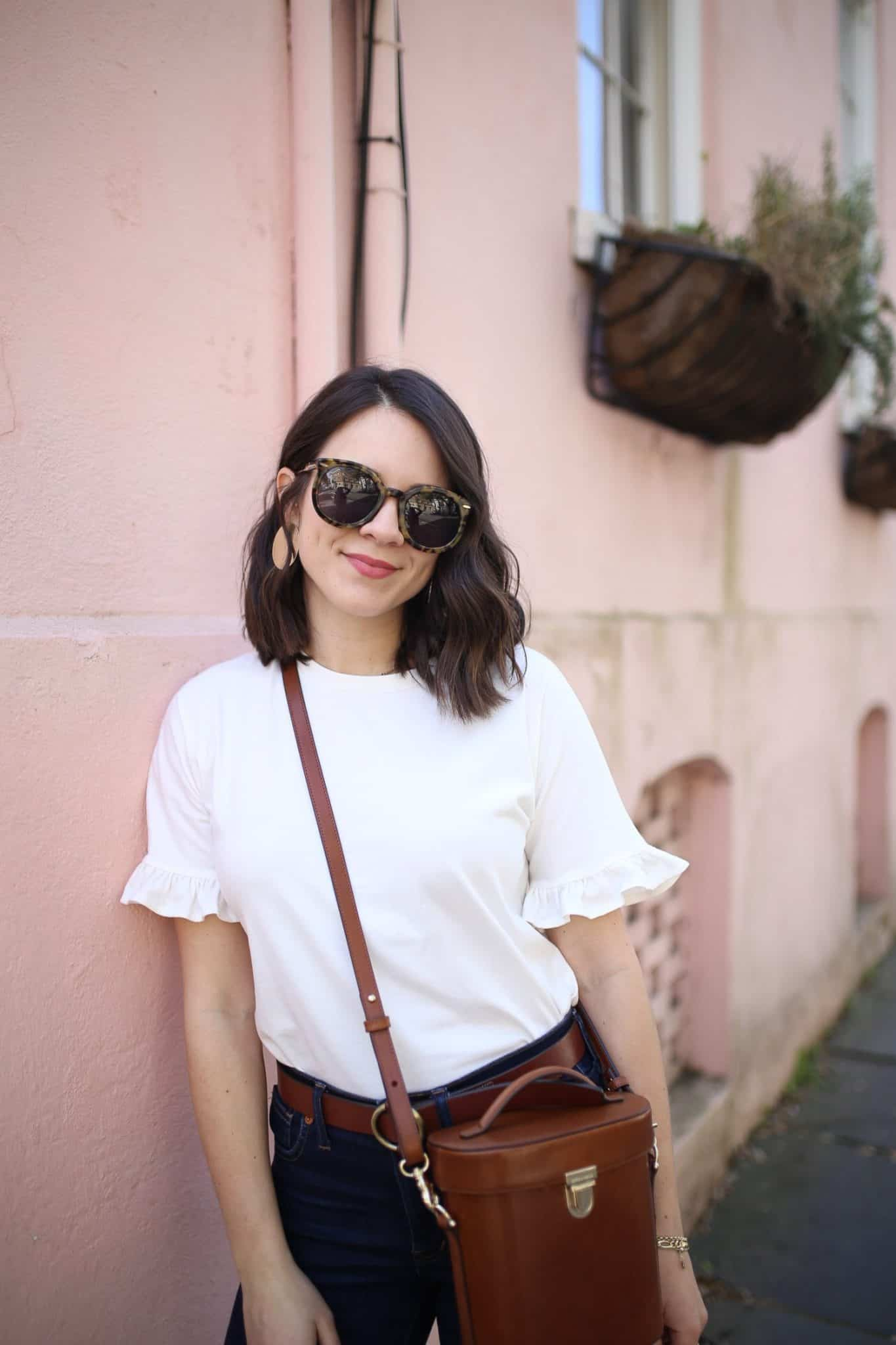 My Style Vita look: white tee, jeans and PIPP TOPSAIL bag