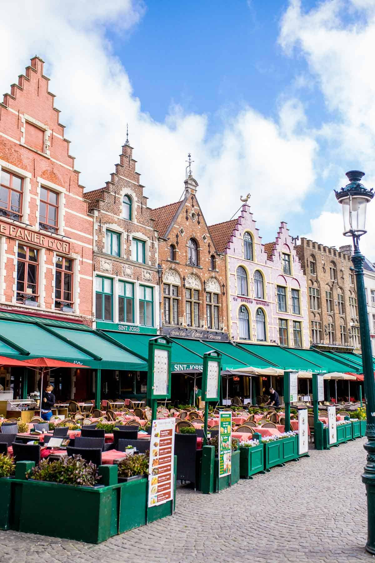 The Market Square is a must visit area of Bruges